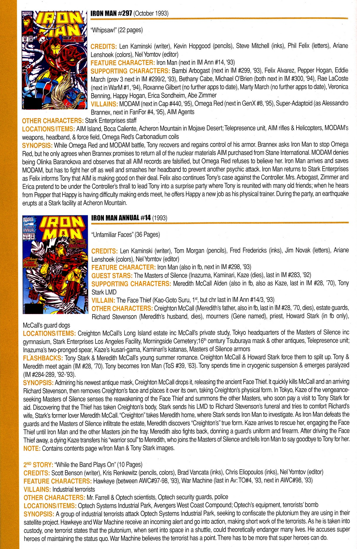 Read online Official Index to the Marvel Universe comic -  Issue #8 - 44