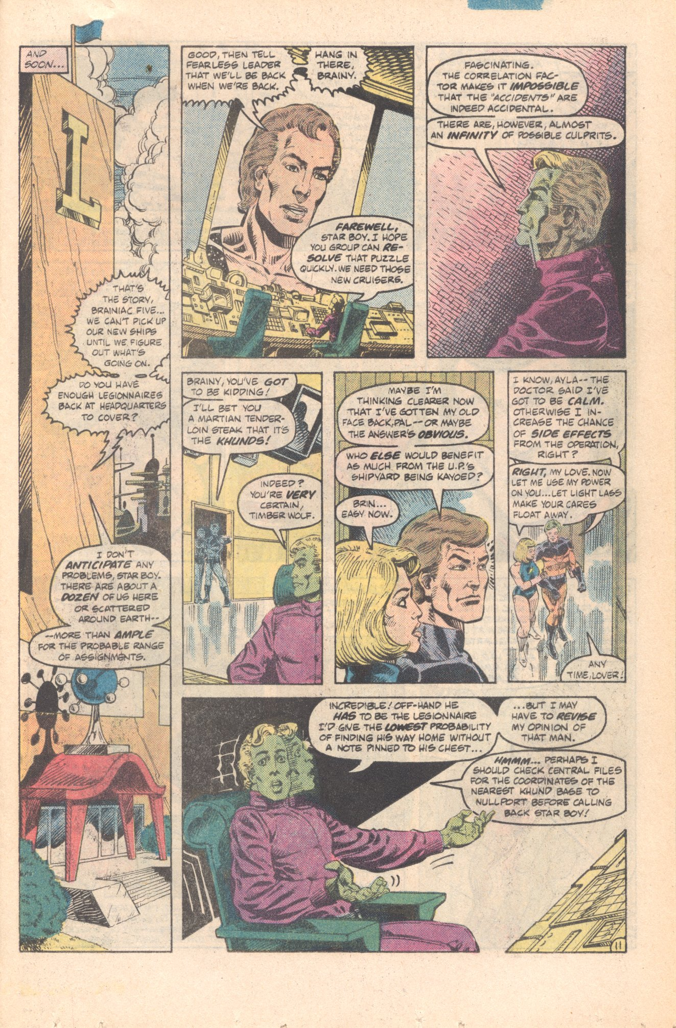 Legion of Super-Heroes (1980) 285 Page 11