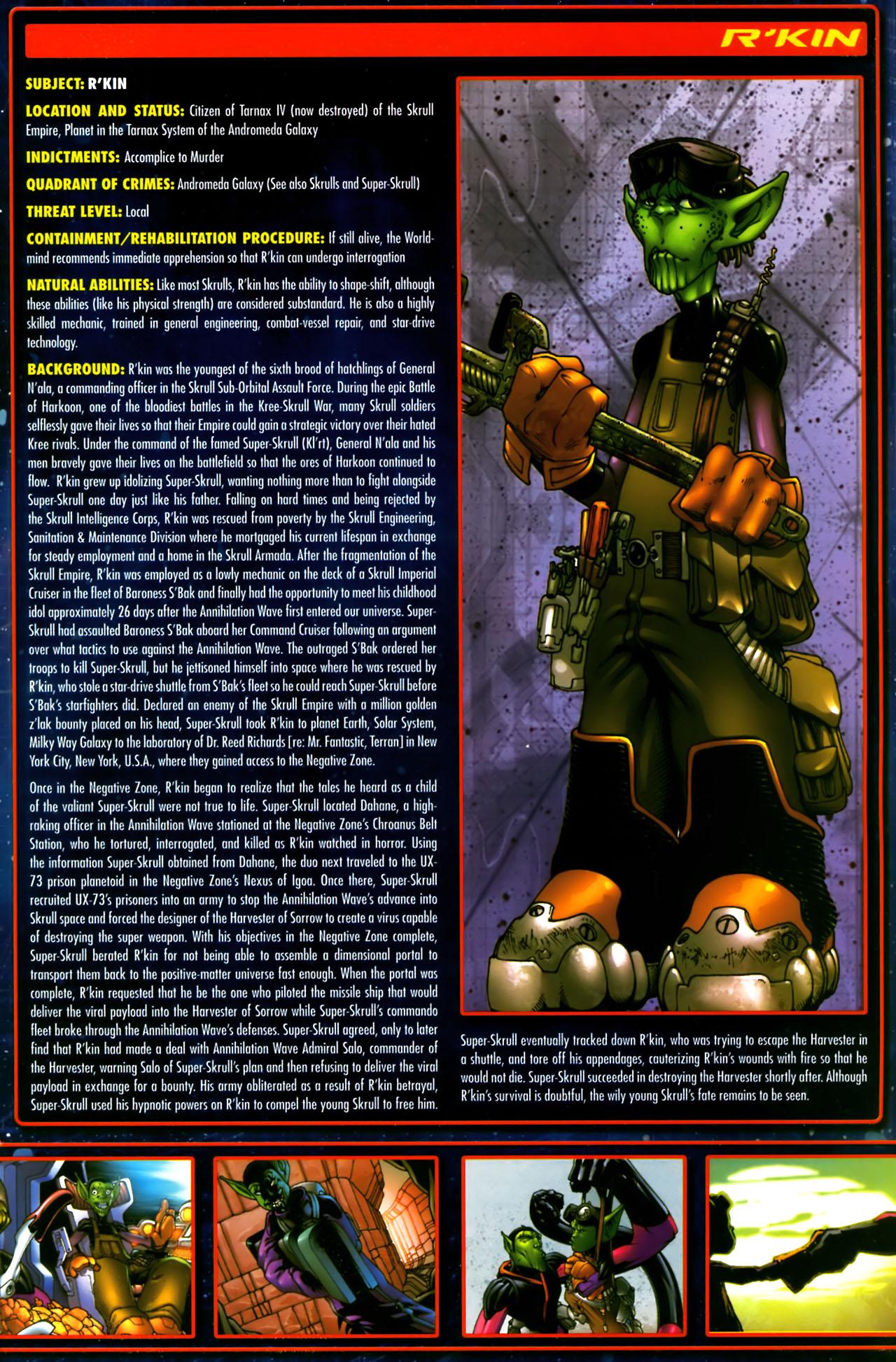 Read online Annihilation:  The  Nova Corps Files comic -  Issue #Annihilation:  The  Nova Corps Files Full - 32