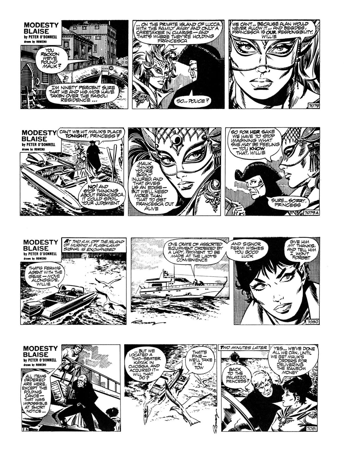 Read online Modesty Blaise Live bait comic -  Issue # TPB - 15