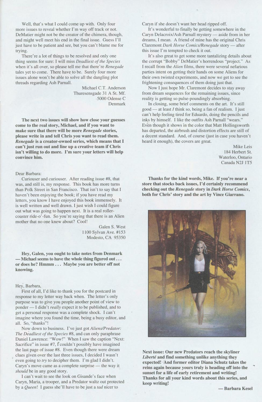 Read online Aliens/Predator: The Deadliest of the Species comic -  Issue #10 - 26