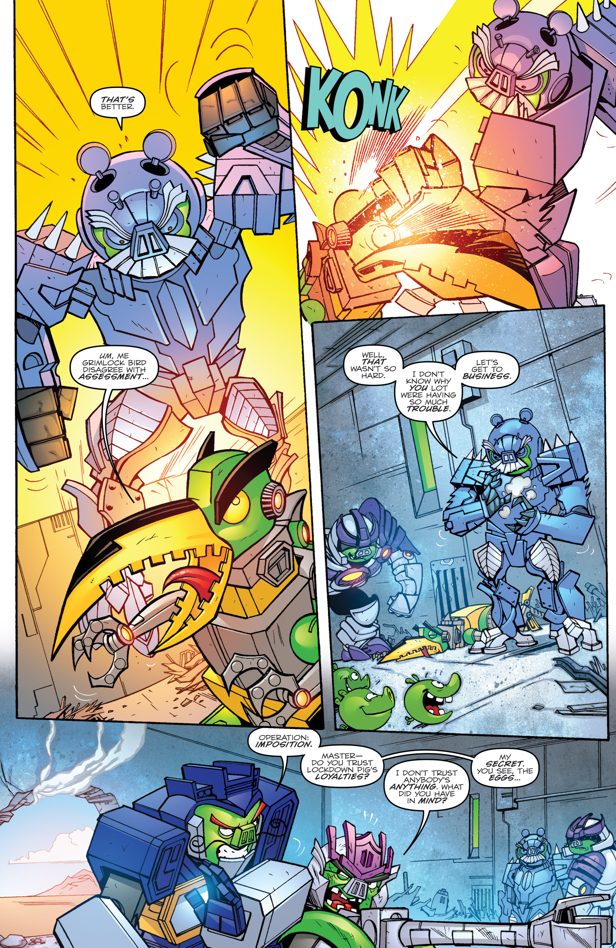 Read online Angry Birds Transformers comic -  Issue #2 - 16