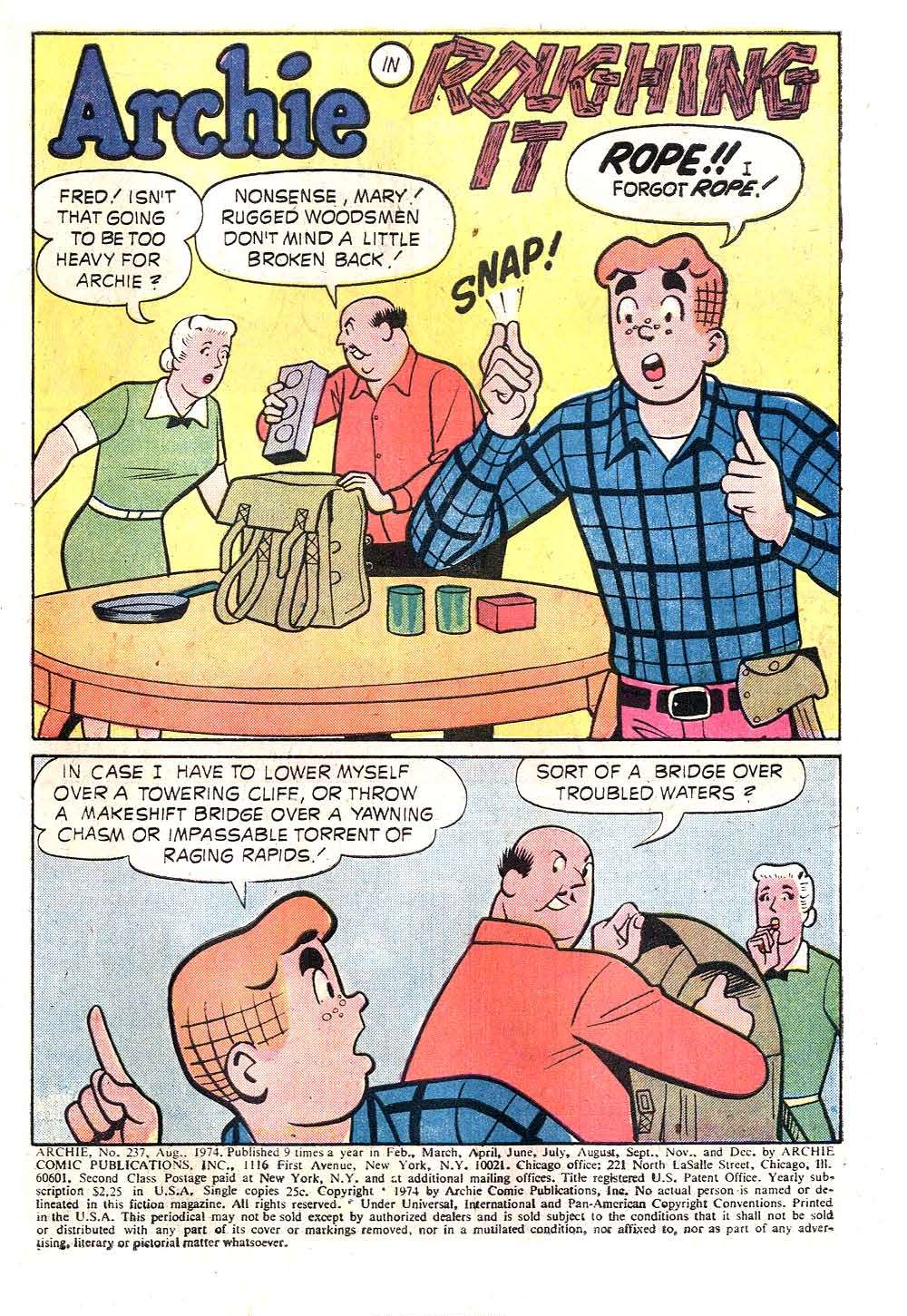 Read online Archie (1960) comic -  Issue #237 - 3