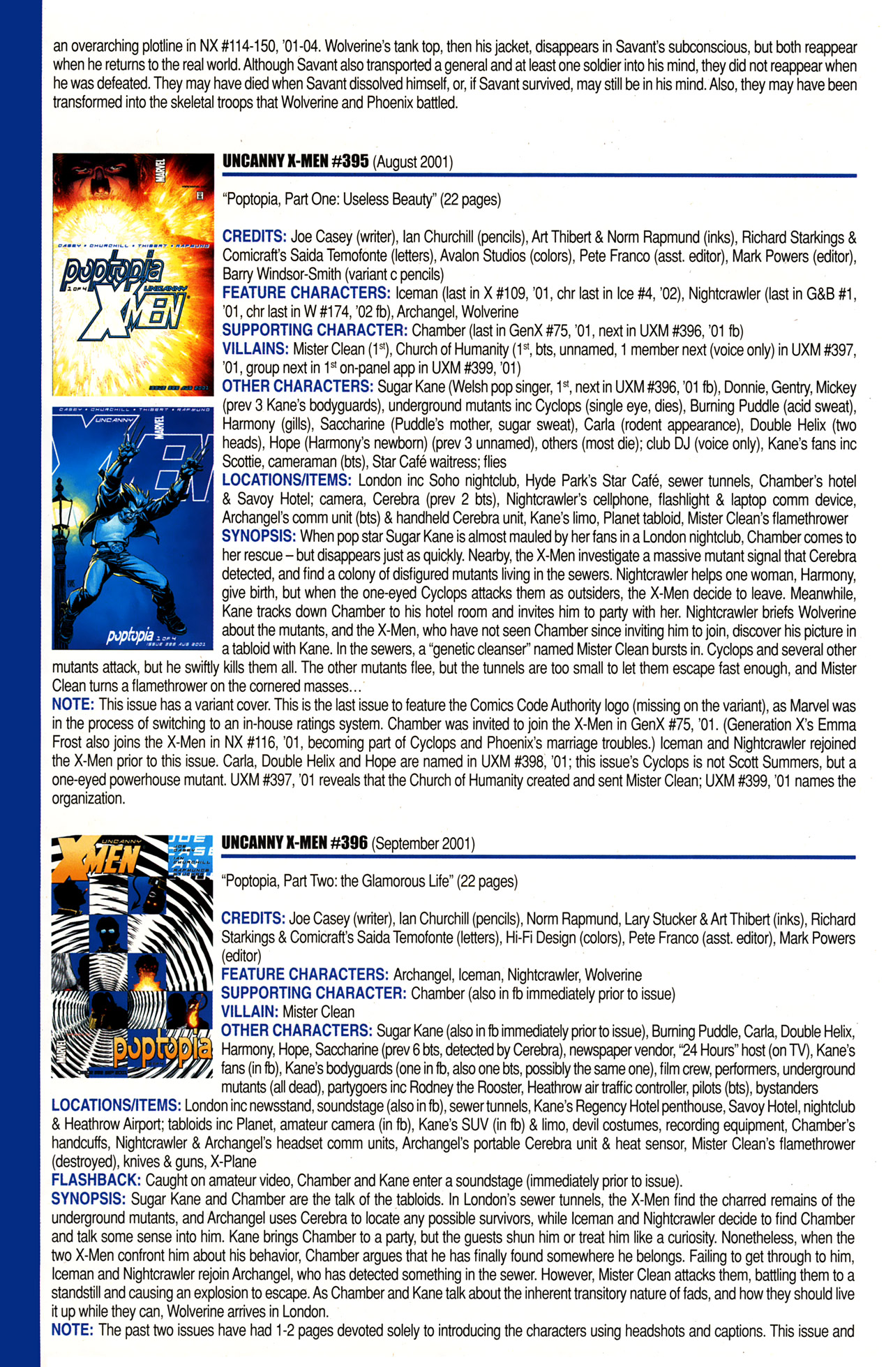 Read online Official Index to the Marvel Universe comic -  Issue #10 - 58