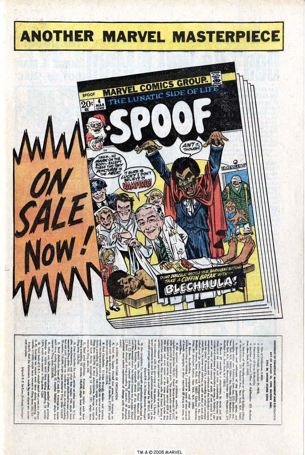 Read online Uncanny X-Men (1963) comic -  Issue #81 - 33
