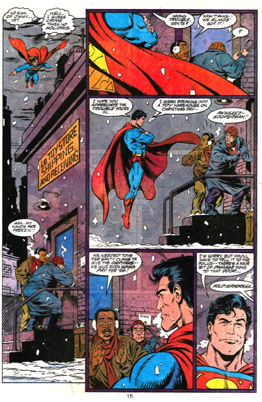 Read online Adventures of Superman (1987) comic -  Issue #487 - 16