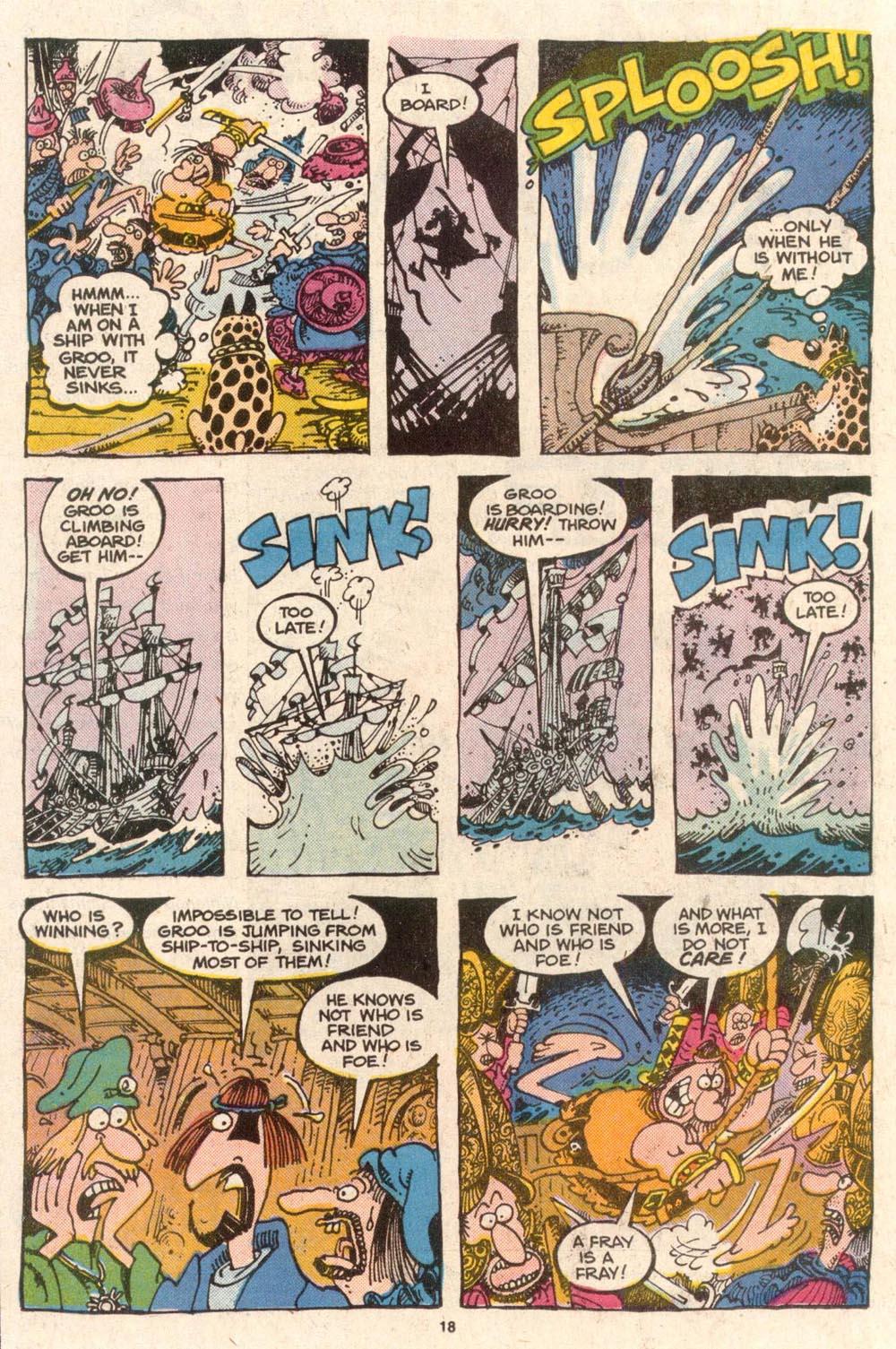 Read online Sergio Aragonés Groo the Wanderer comic -  Issue #54 - 18