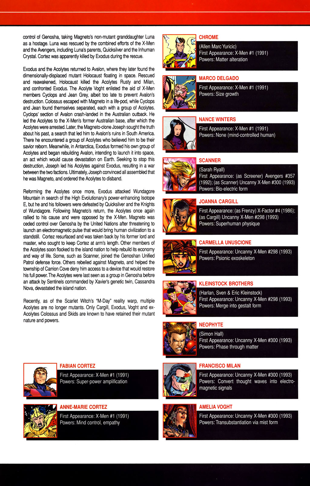 Read online All-New Official Handbook of the Marvel Universe A to Z comic -  Issue #1 - 8