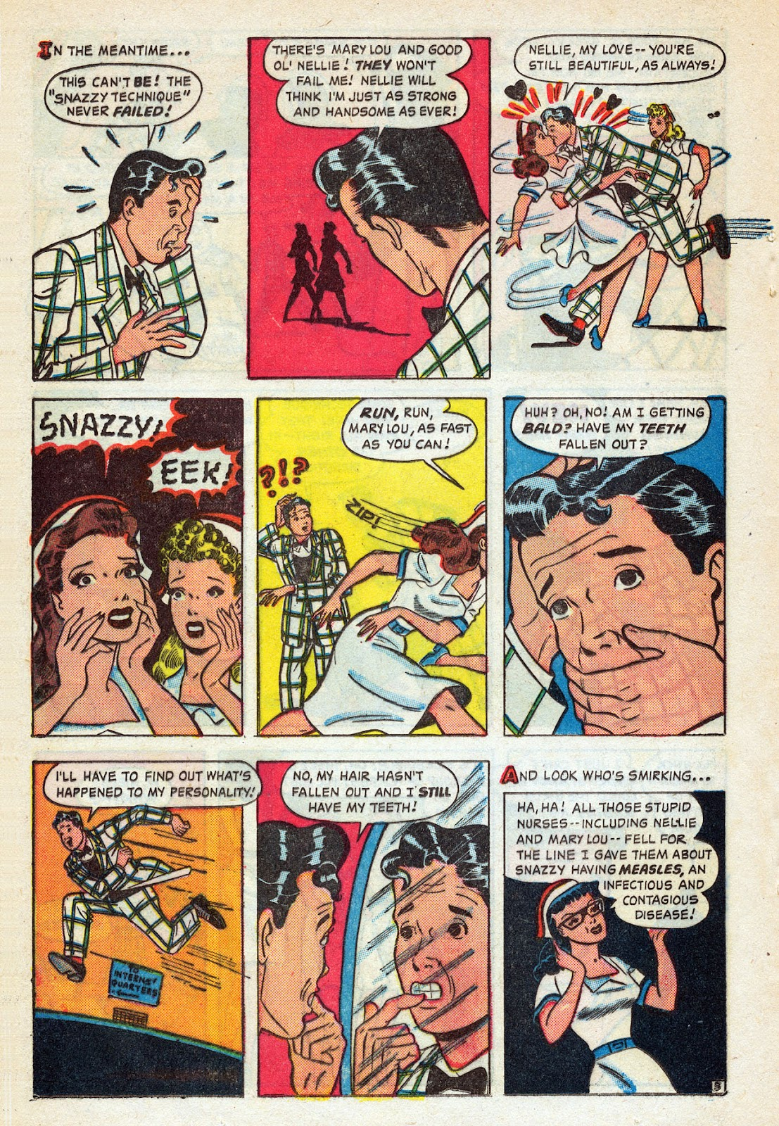 Read online Nellie The Nurse (1945) comic -  Issue #14 - 18