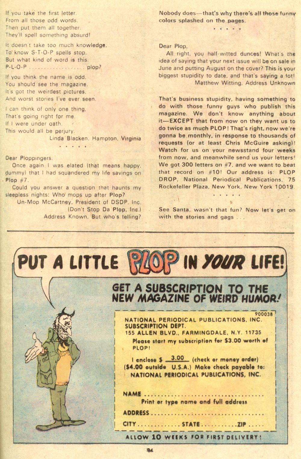 Read online Plop! comic -  Issue #10 - 25