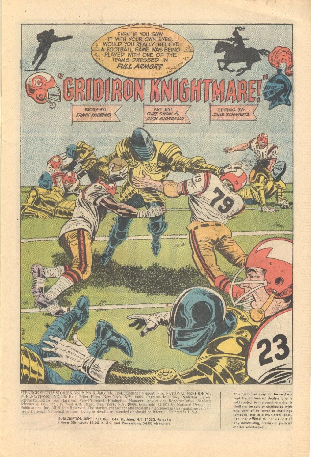 Read online Strange Sports Stories (1973) comic -  Issue #3 - 2