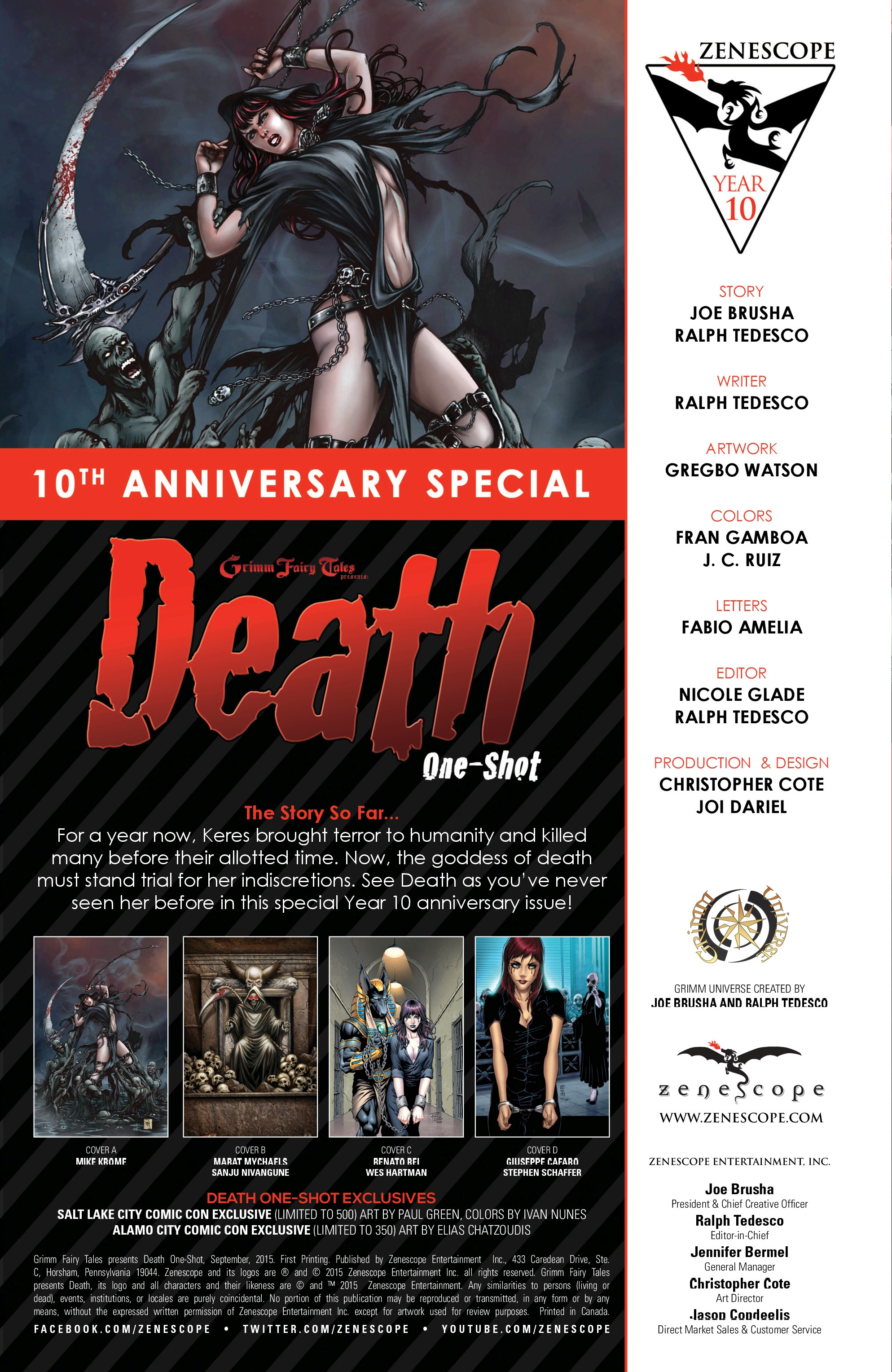 Read online Grimm Fairy Tales presents Death comic -  Issue # Full - 2