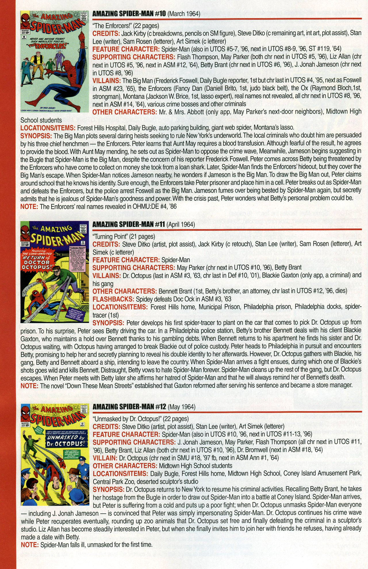 Read online Official Index to the Marvel Universe comic -  Issue #1 - 8