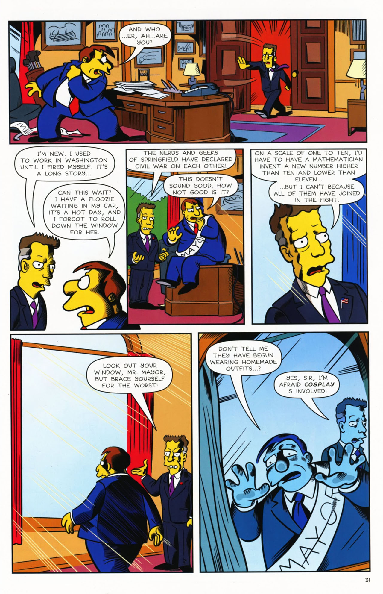 Read online Bongo Comics presents Comic Book Guy: The Comic Book comic -  Issue #2 - 32