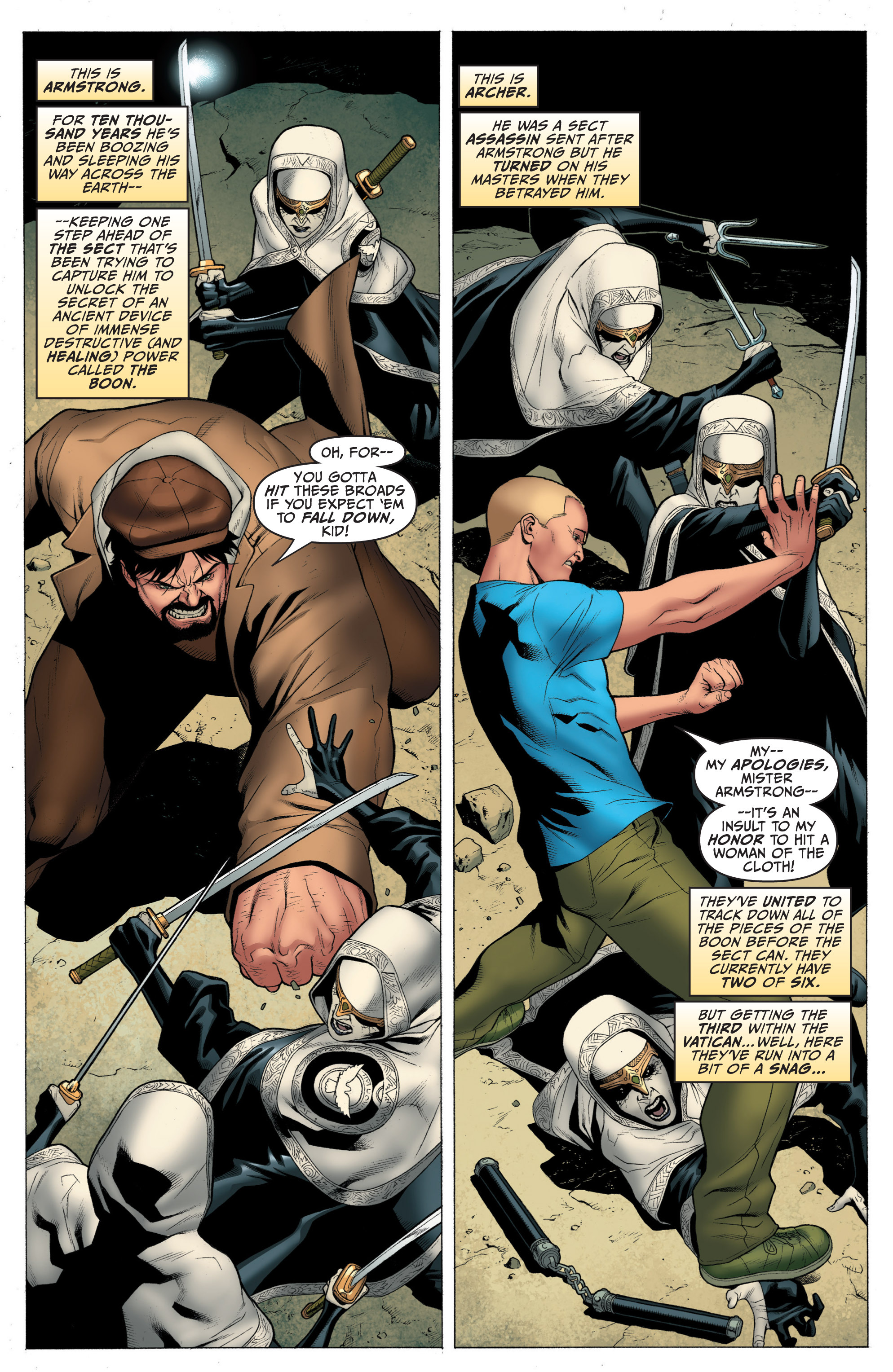 Read online Archer and Armstrong comic -  Issue #Archer and Armstrong _TPB 1 - 56