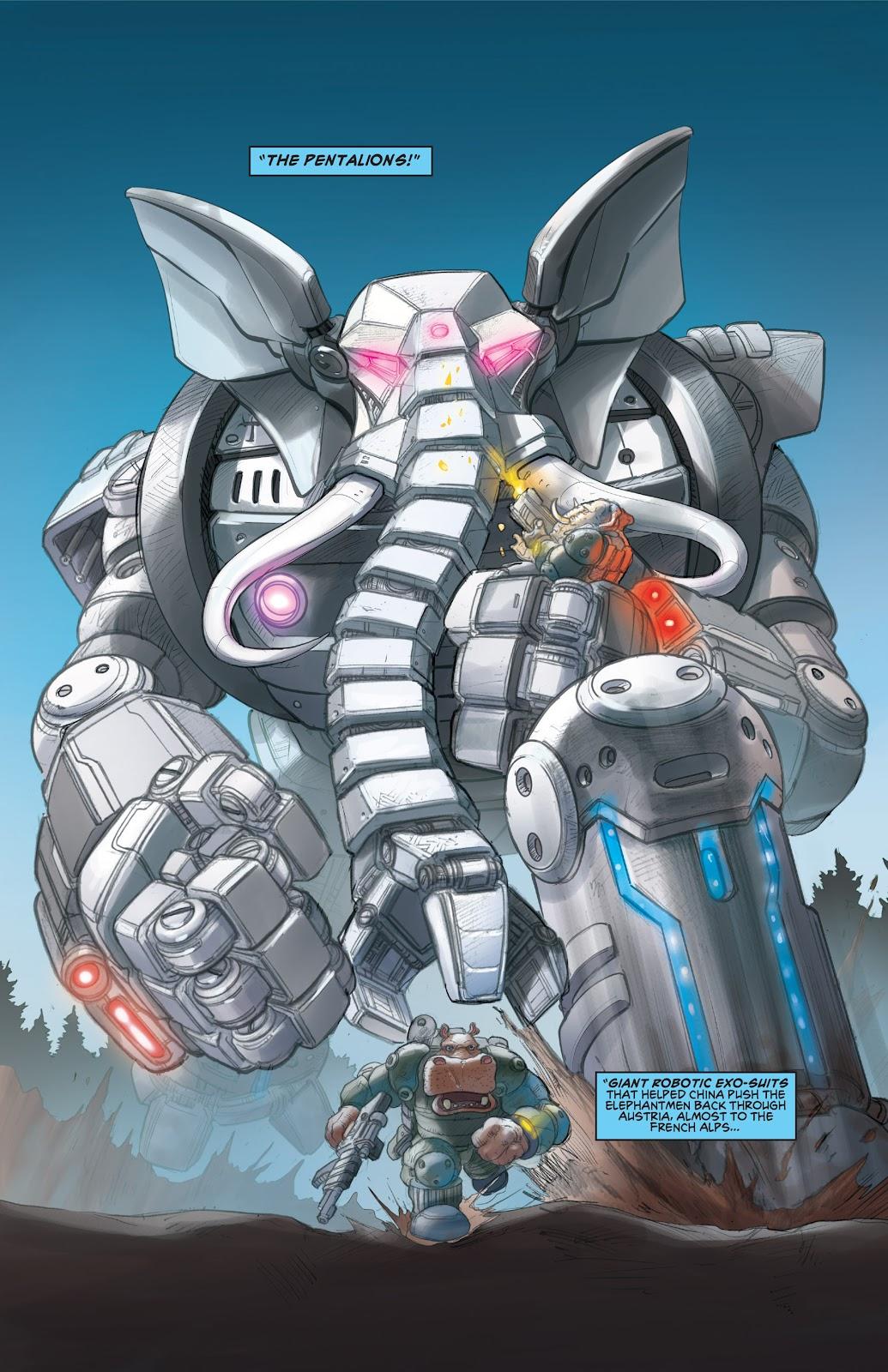 Read online Elephantmen 2261 Season Two: The Pentalion Job comic -  Issue # TPB - 16