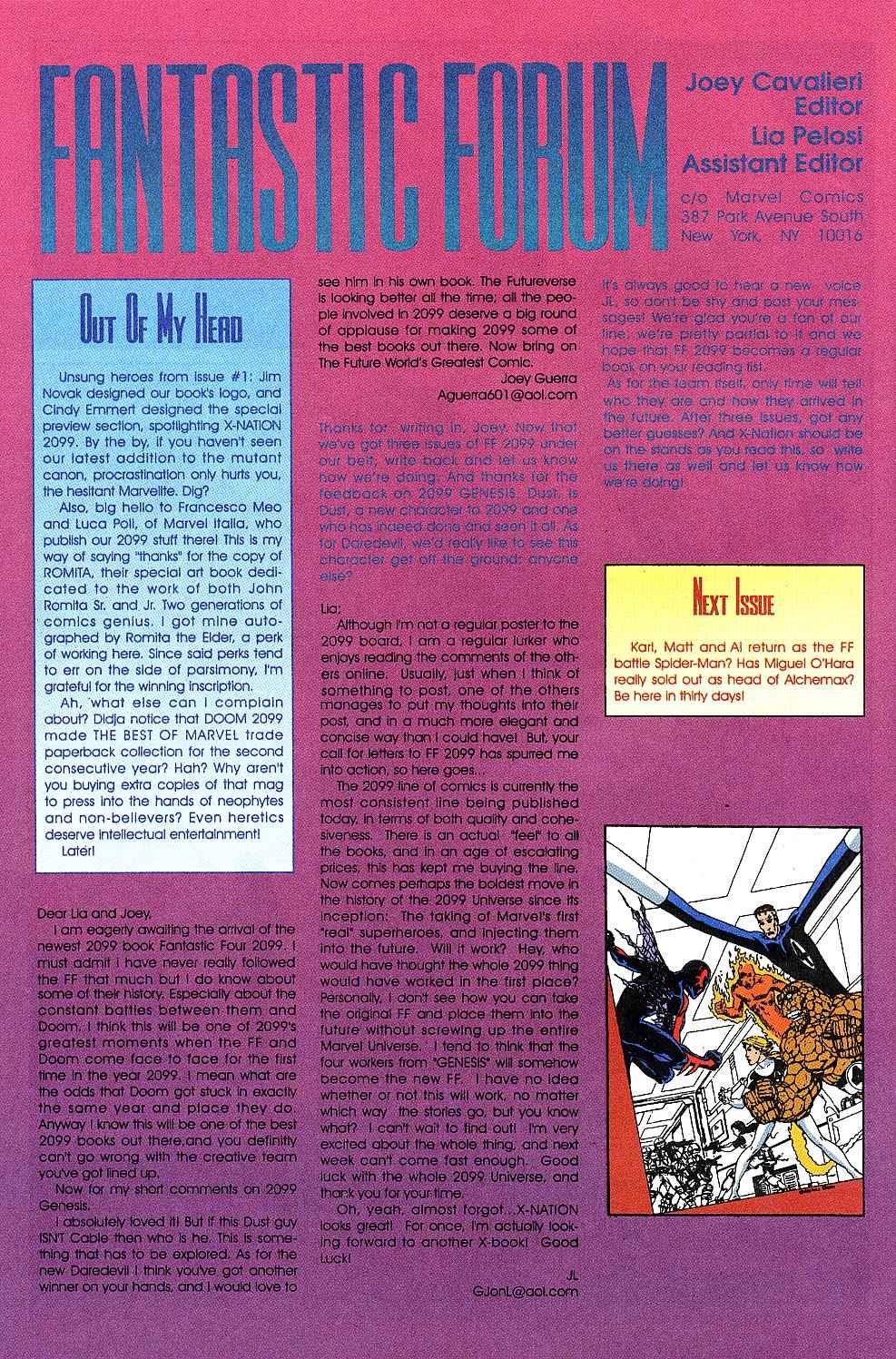 Fantastic Four 2099 3 Page 25