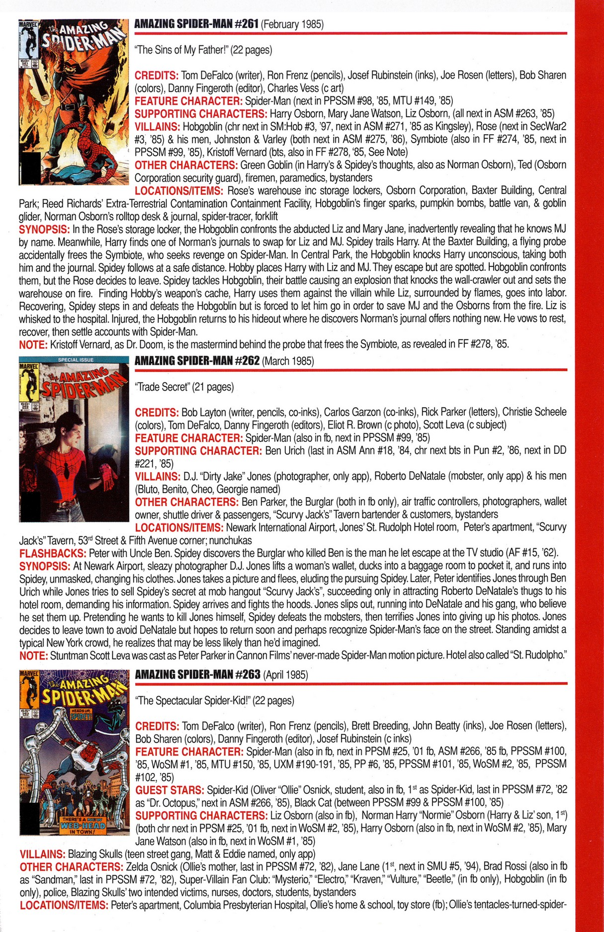 Read online Official Index to the Marvel Universe comic -  Issue #6 - 11