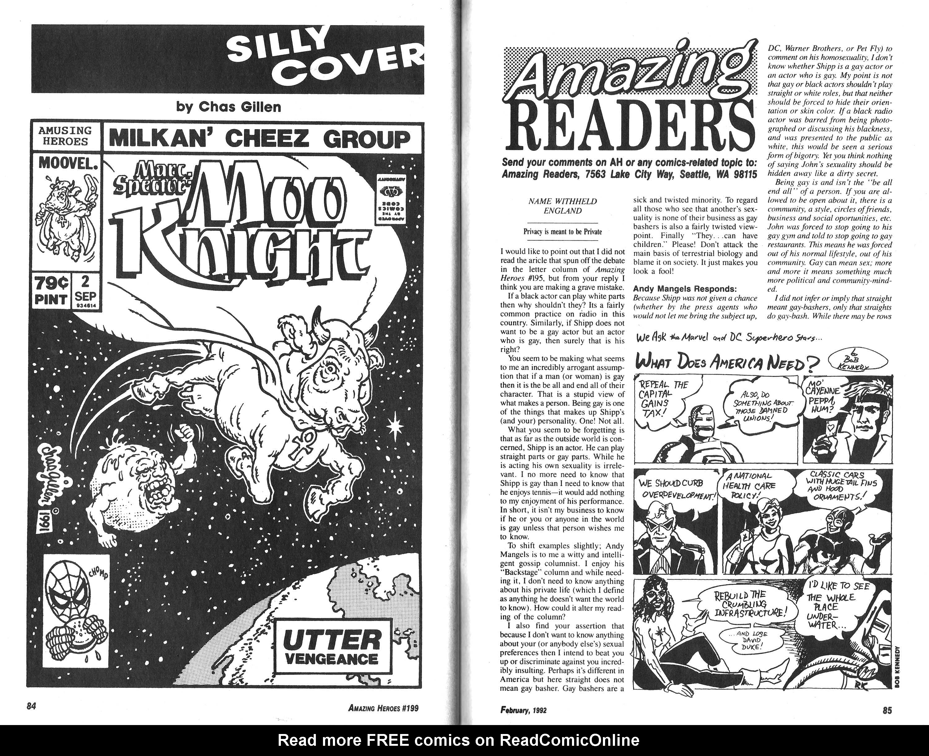 Read online Amazing Heroes comic -  Issue #199 - 43