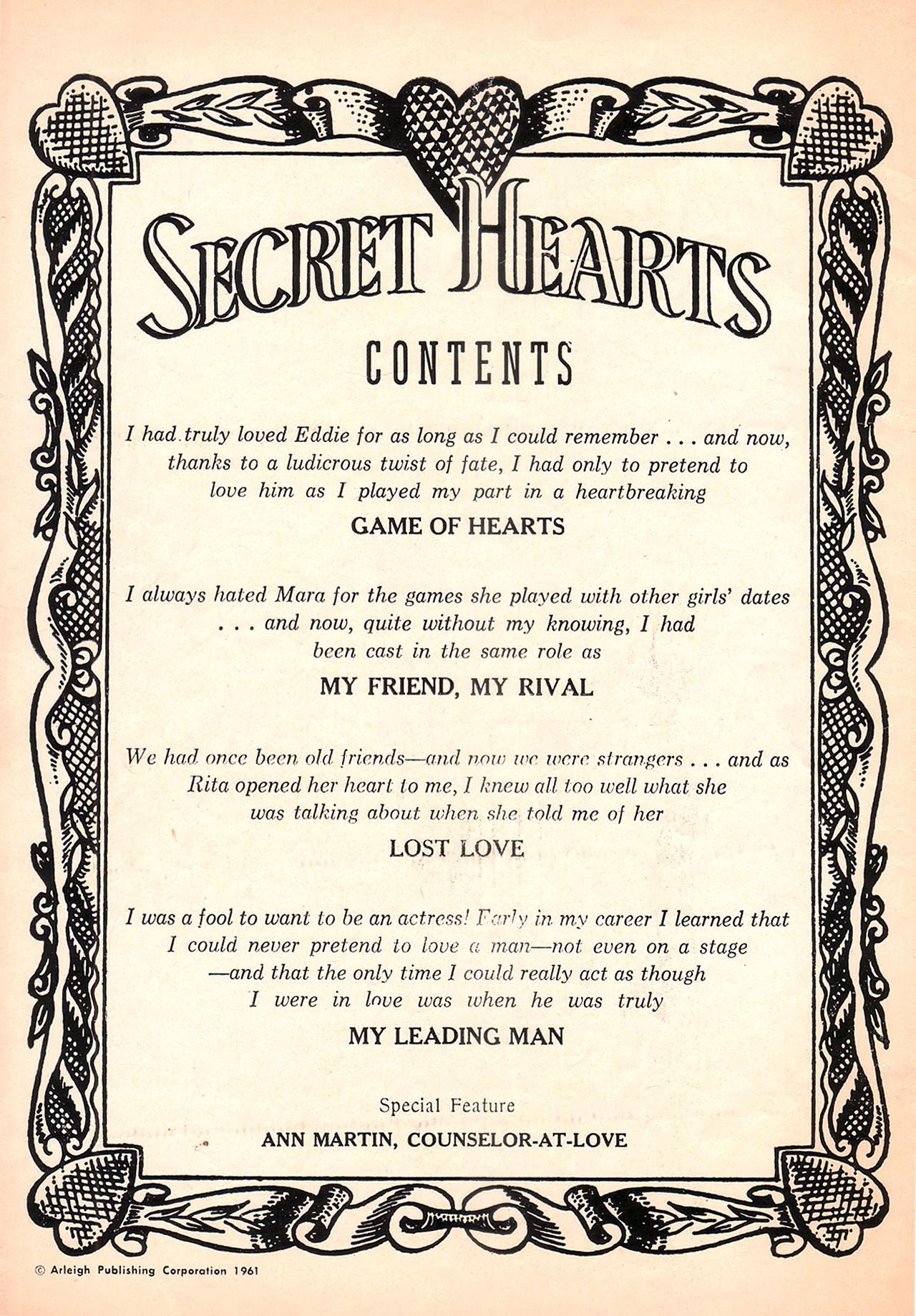 Read online Secret Hearts comic -  Issue #77 - 2