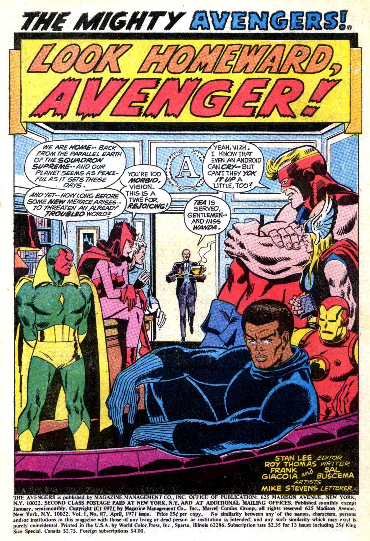 The Avengers (1963) 87 Page 1