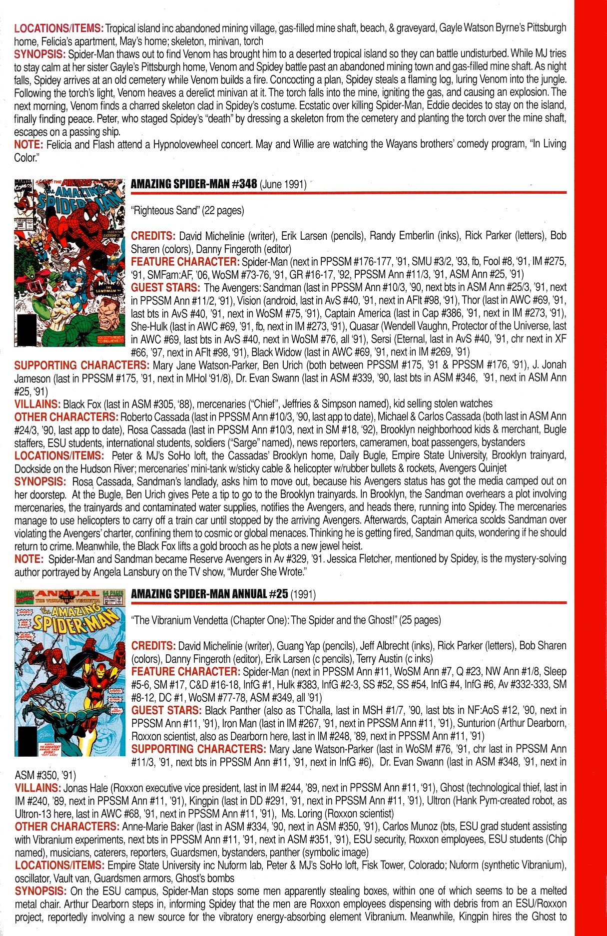 Read online Official Index to the Marvel Universe comic -  Issue #8 - 13