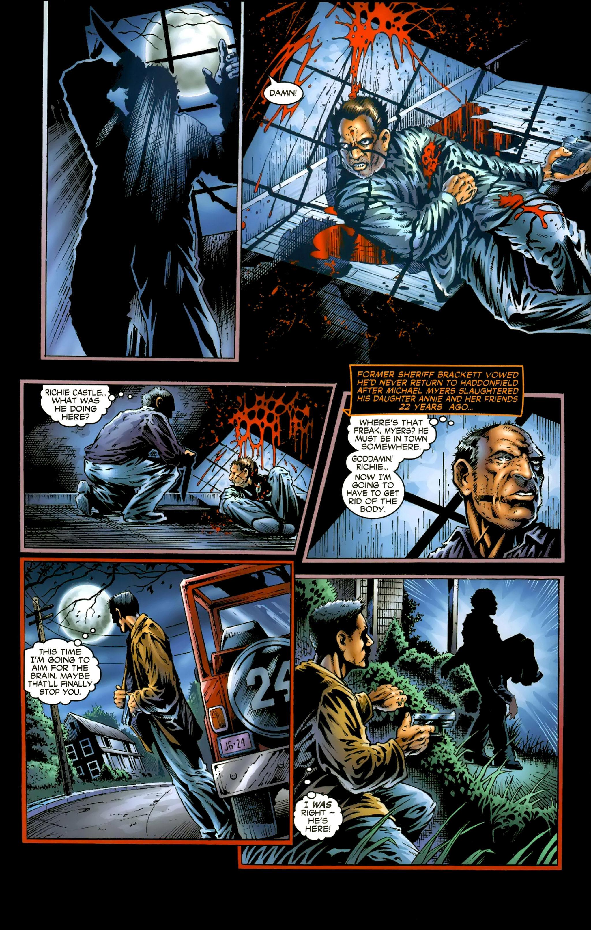 Read online Halloween II: The Blackest Eyes comic -  Issue # Full - 8