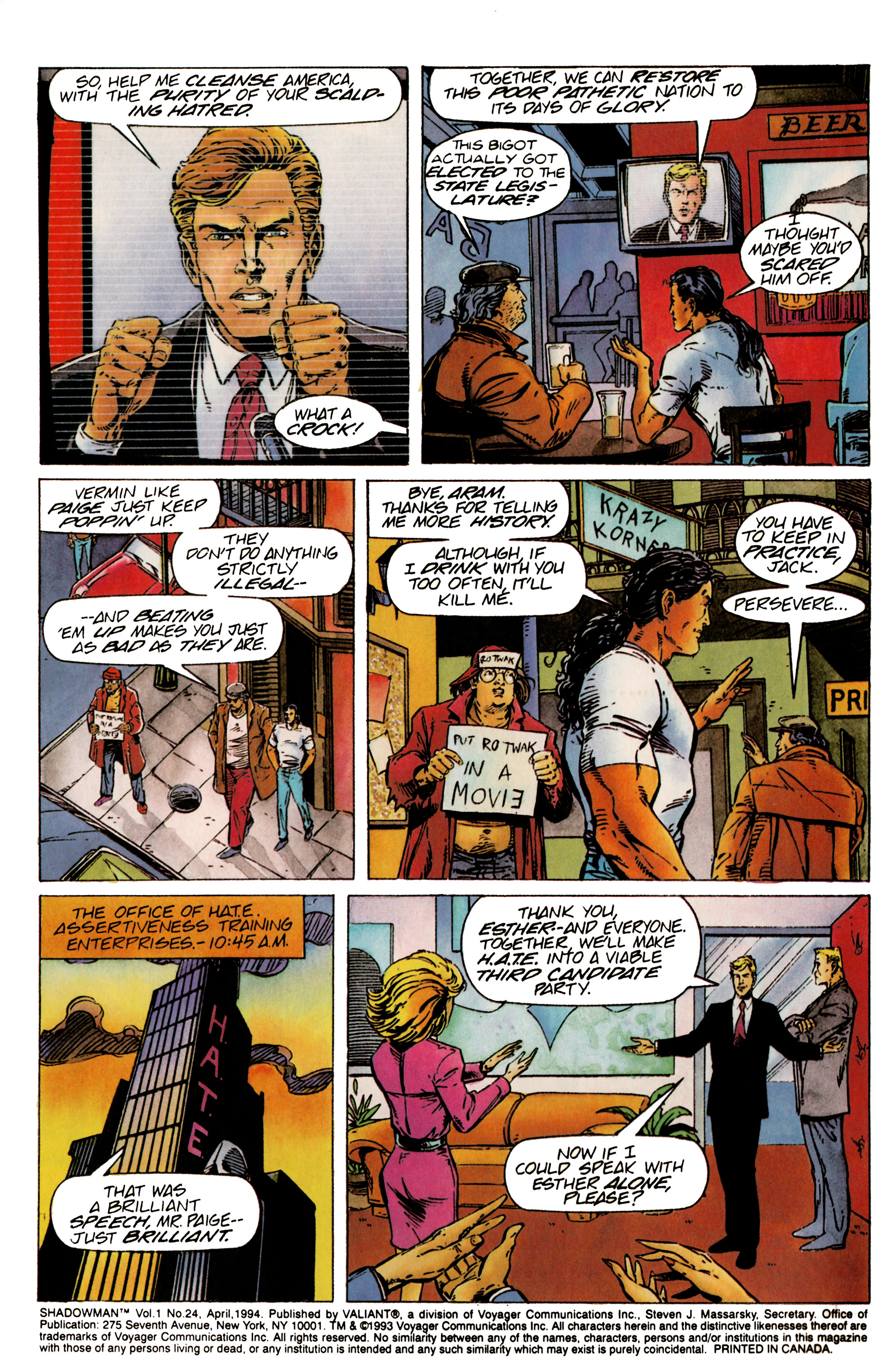 Read online Shadowman (1992) comic -  Issue #24 - 3