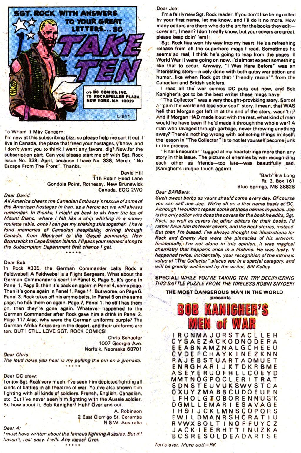 Read online Sgt. Rock comic -  Issue #349 - 14