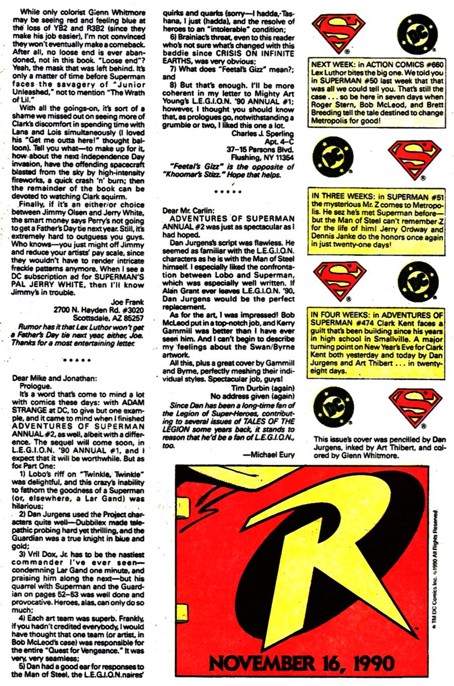 Read online Adventures of Superman (1987) comic -  Issue #473 - 26