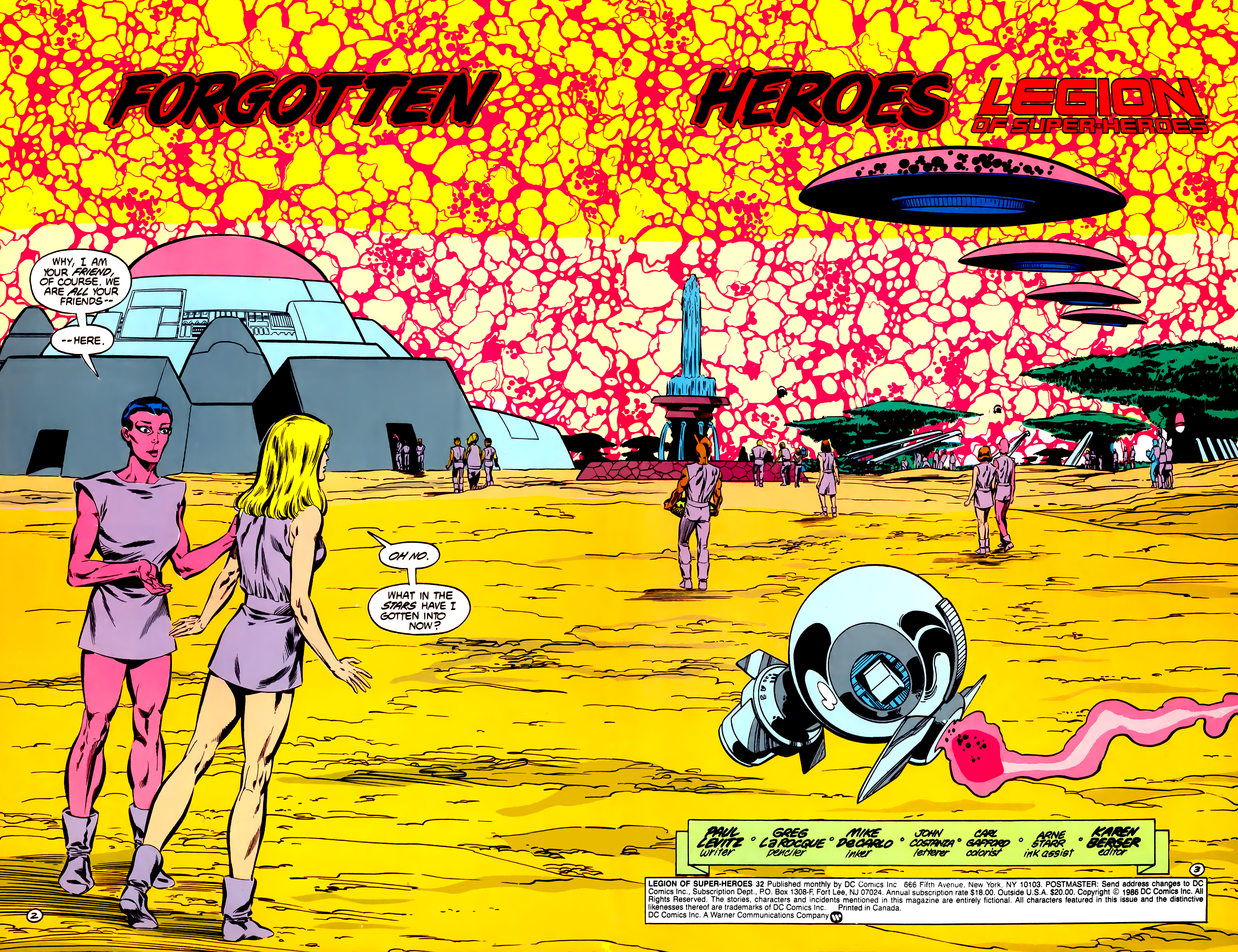 Legion of Super-Heroes (1984) 32 Page 2