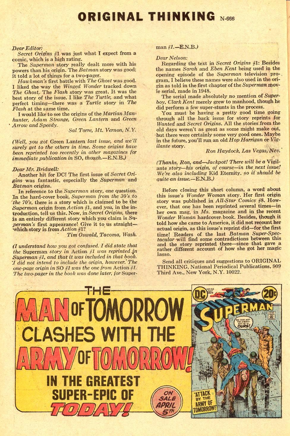 Read online Secret Origins (1973) comic -  Issue #3 - 21