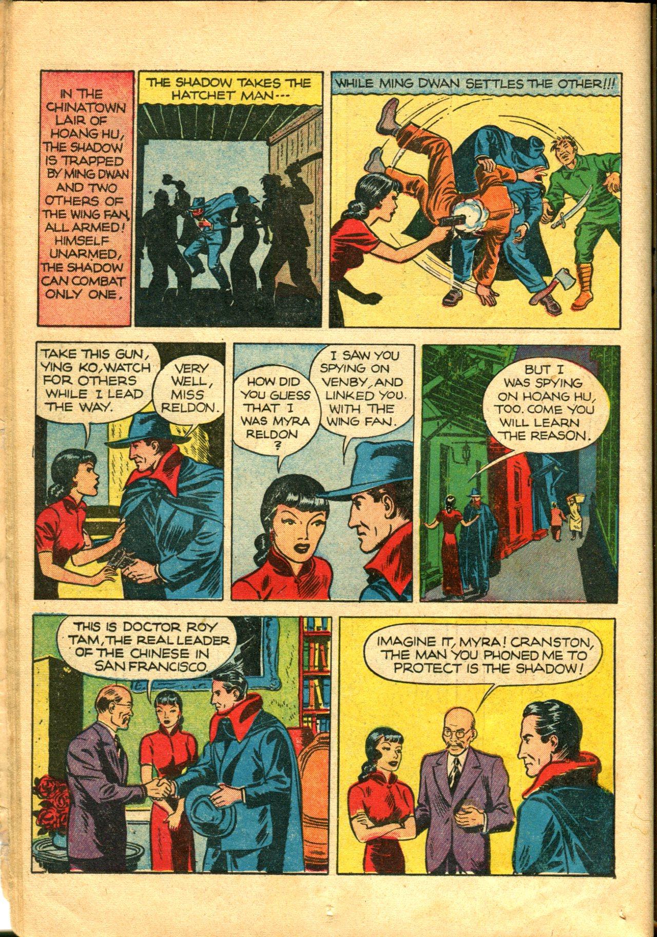 Read online Shadow Comics comic -  Issue #10 - 24