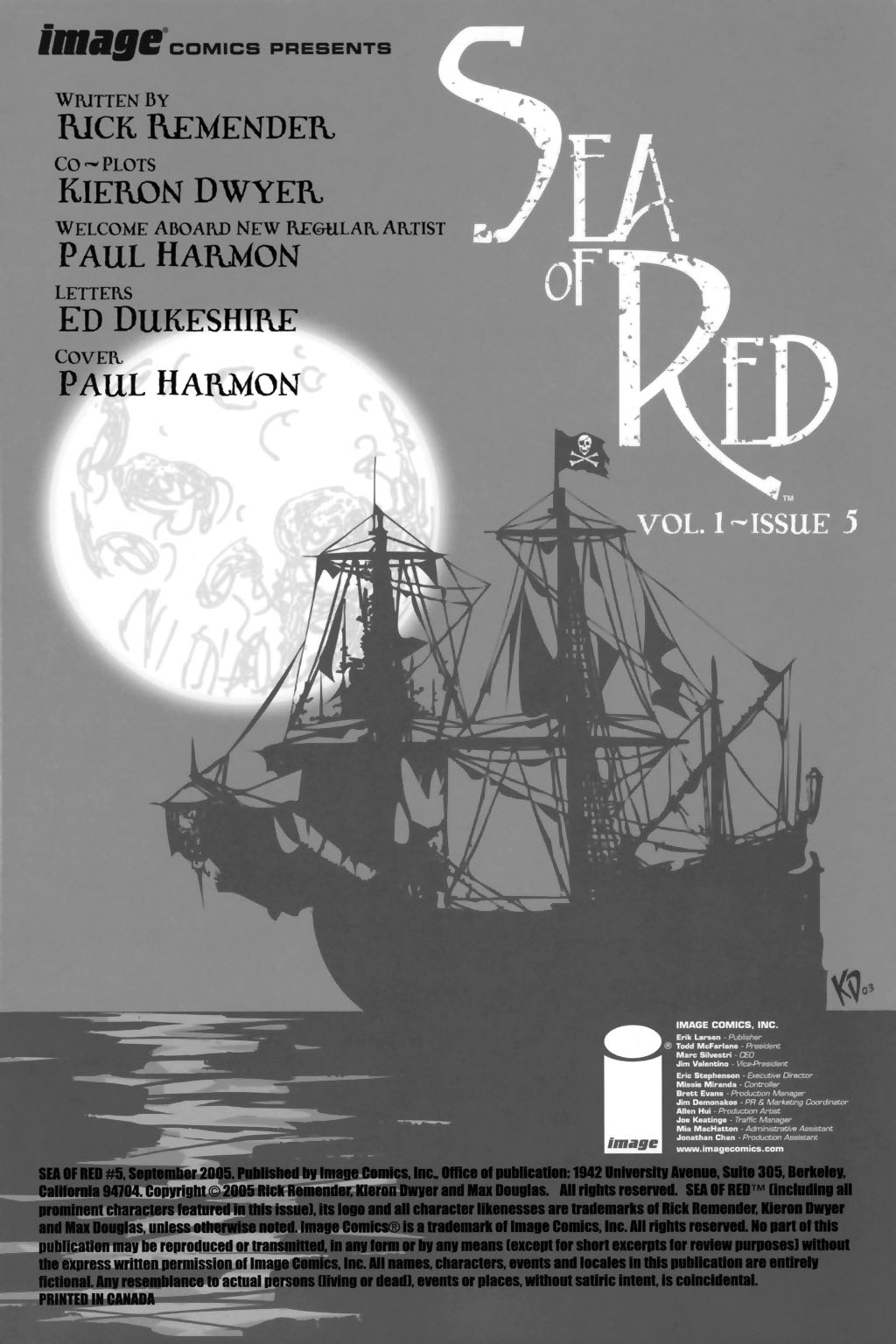 Read online Sea of Red comic -  Issue #5 - 2