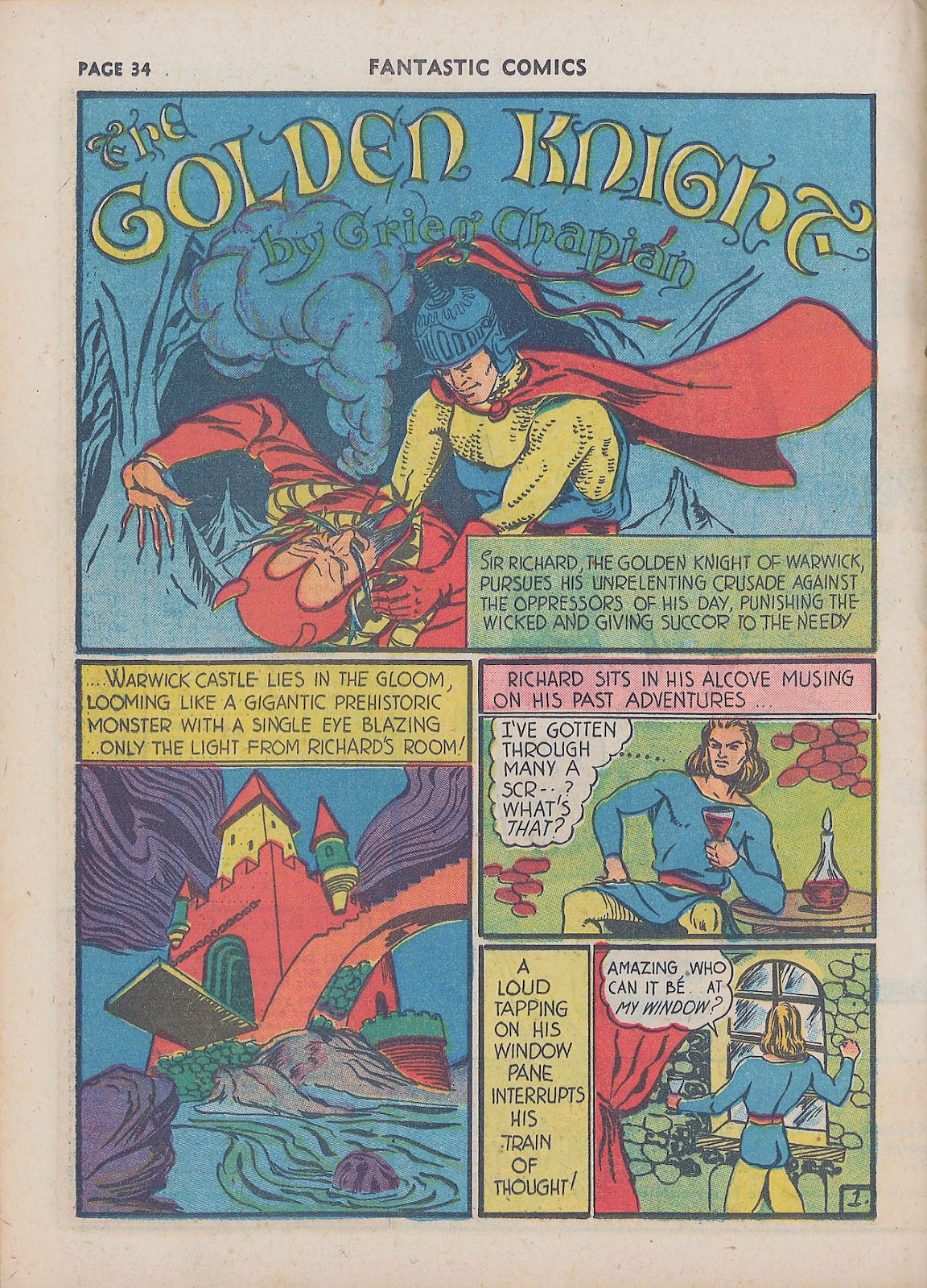 Read online Fantastic Comics comic -  Issue #16 - 35