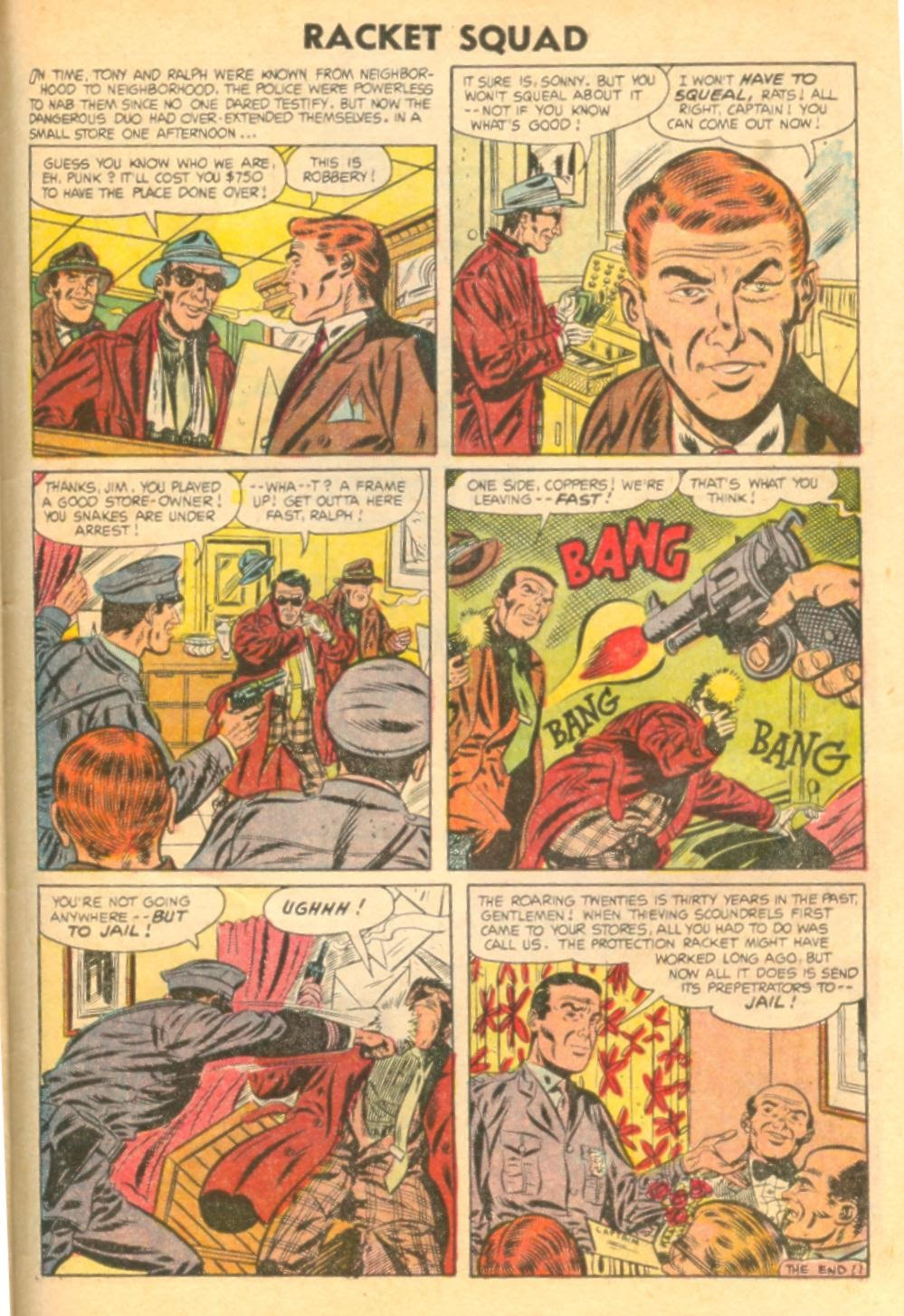 Read online Racket Squad in Action comic -  Issue #12 - 31