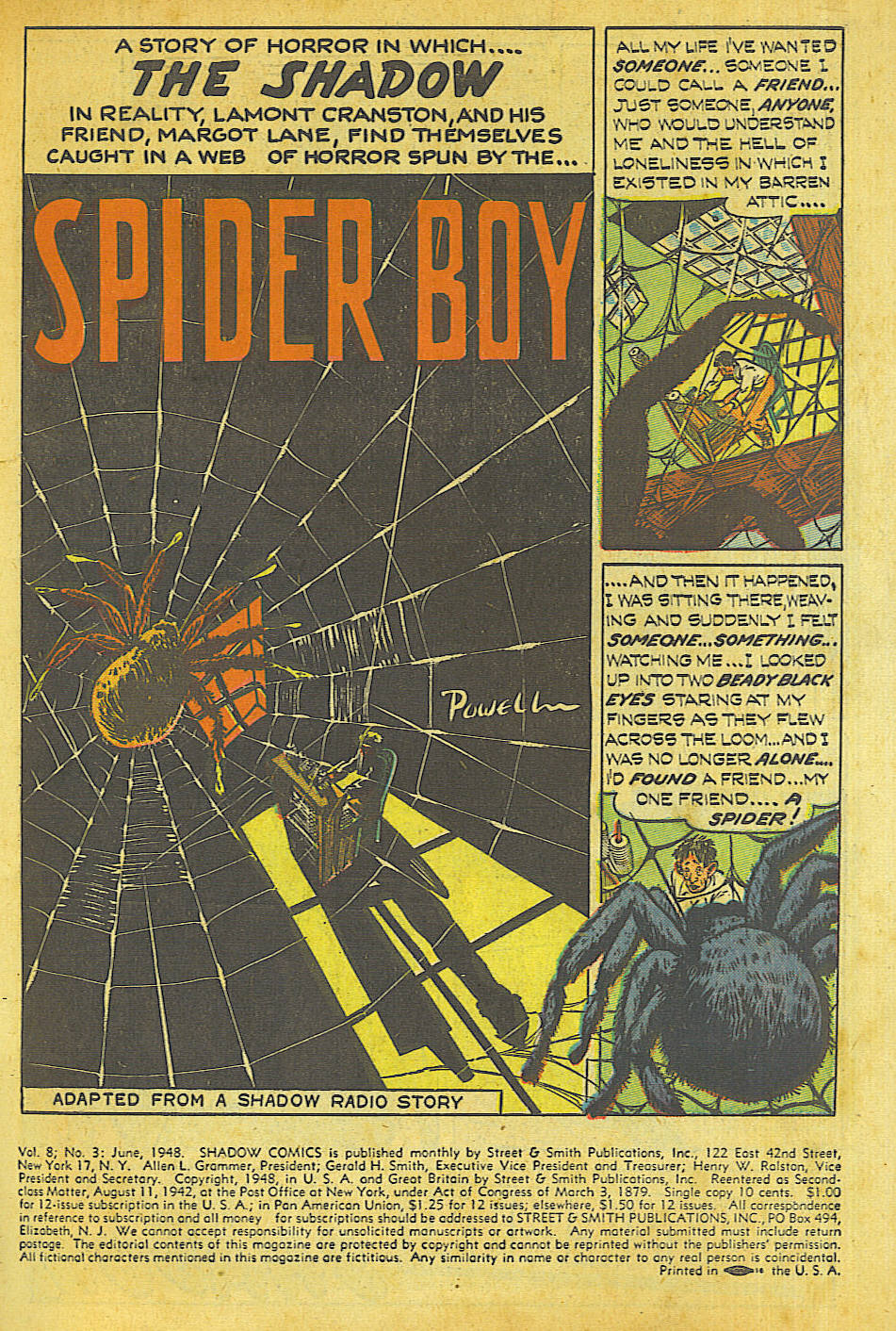 Read online Shadow Comics comic -  Issue #87 - 2