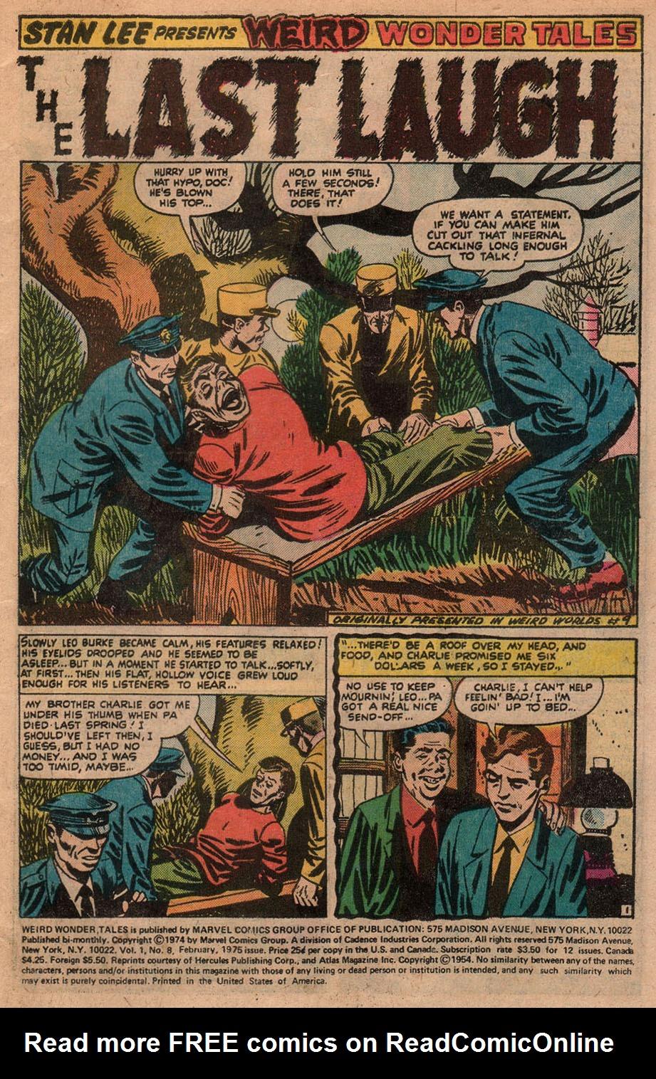 Read online Adventures into Weird Worlds comic -  Issue #9 - 17
