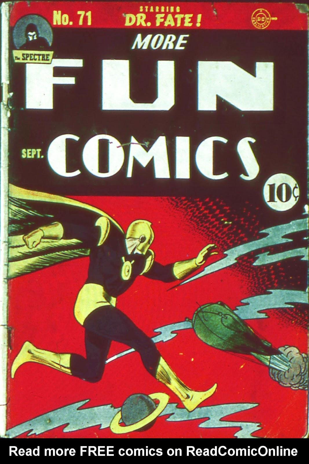 More Fun Comics 71 Page 1