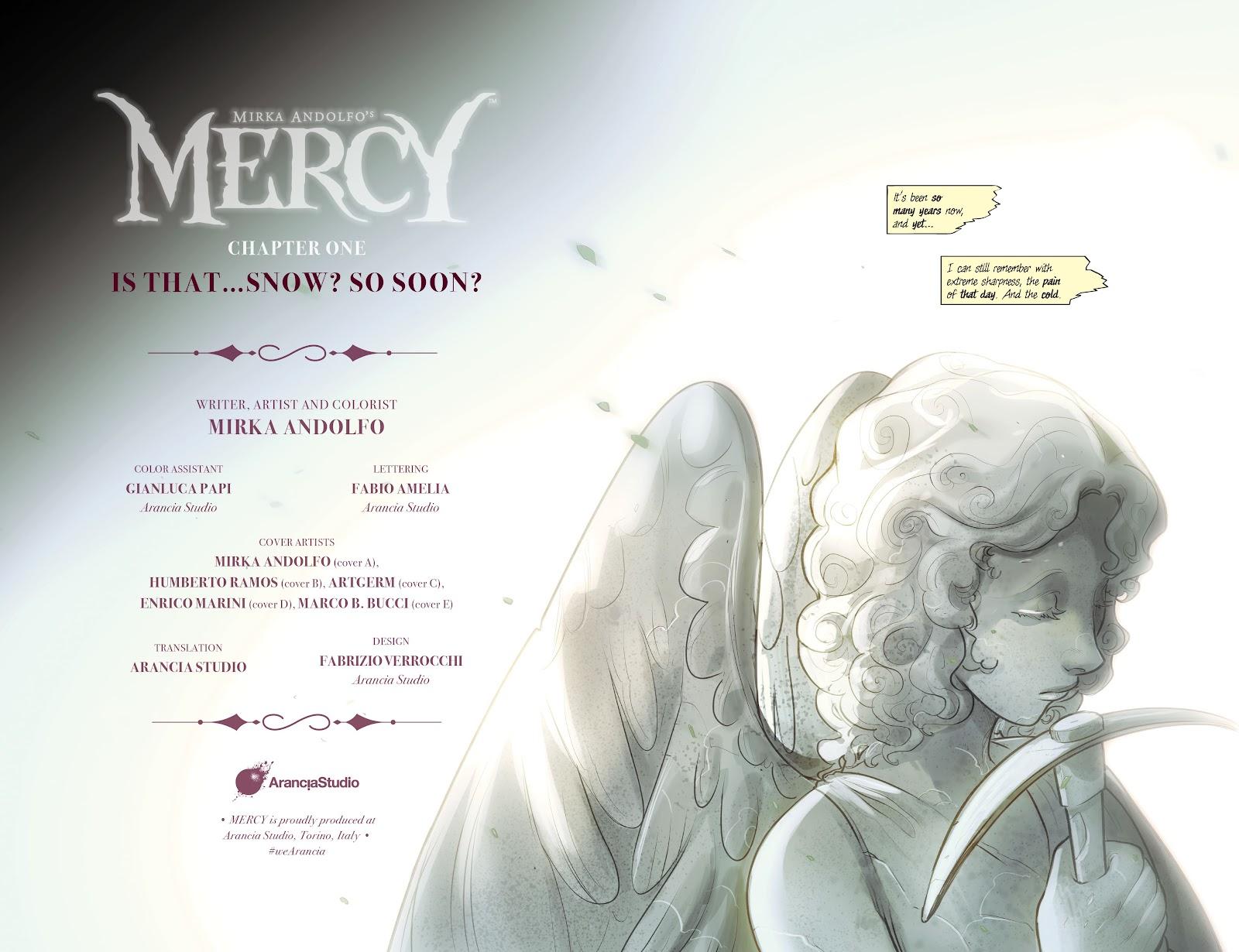 Read online Mirka Andolfo's Mercy comic -  Issue #1 - 6