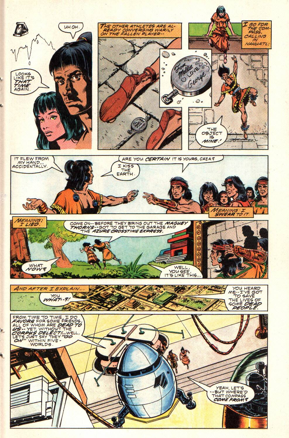 Read online Aztec Ace comic -  Issue #9 - 21