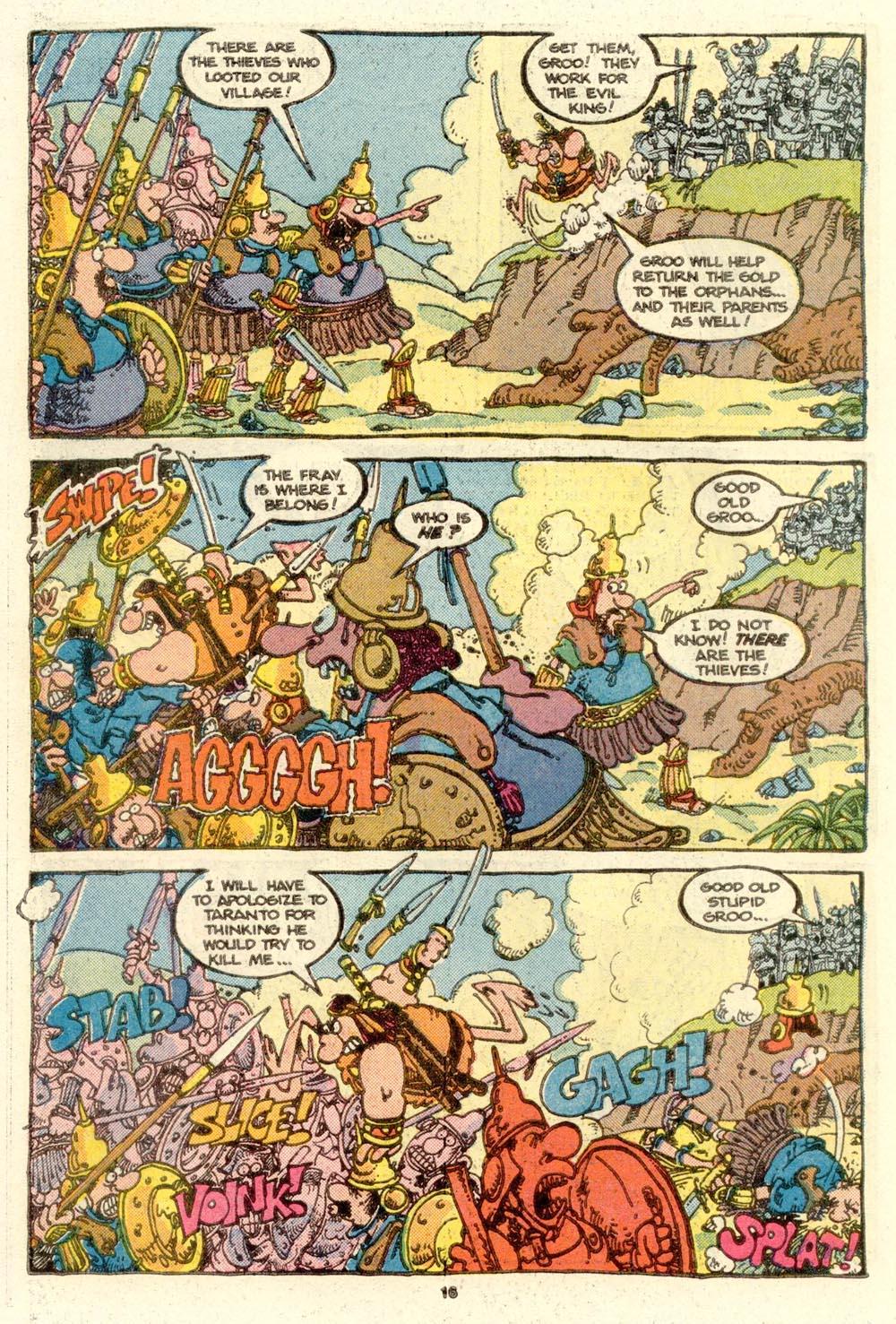 Read online Sergio Aragonés Groo the Wanderer comic -  Issue #16 - 16