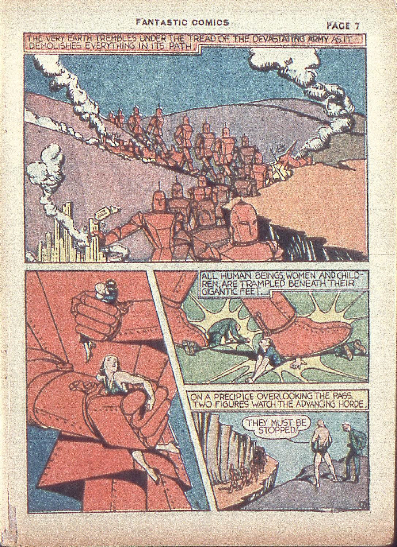 Read online Fantastic Comics comic -  Issue #4 - 9