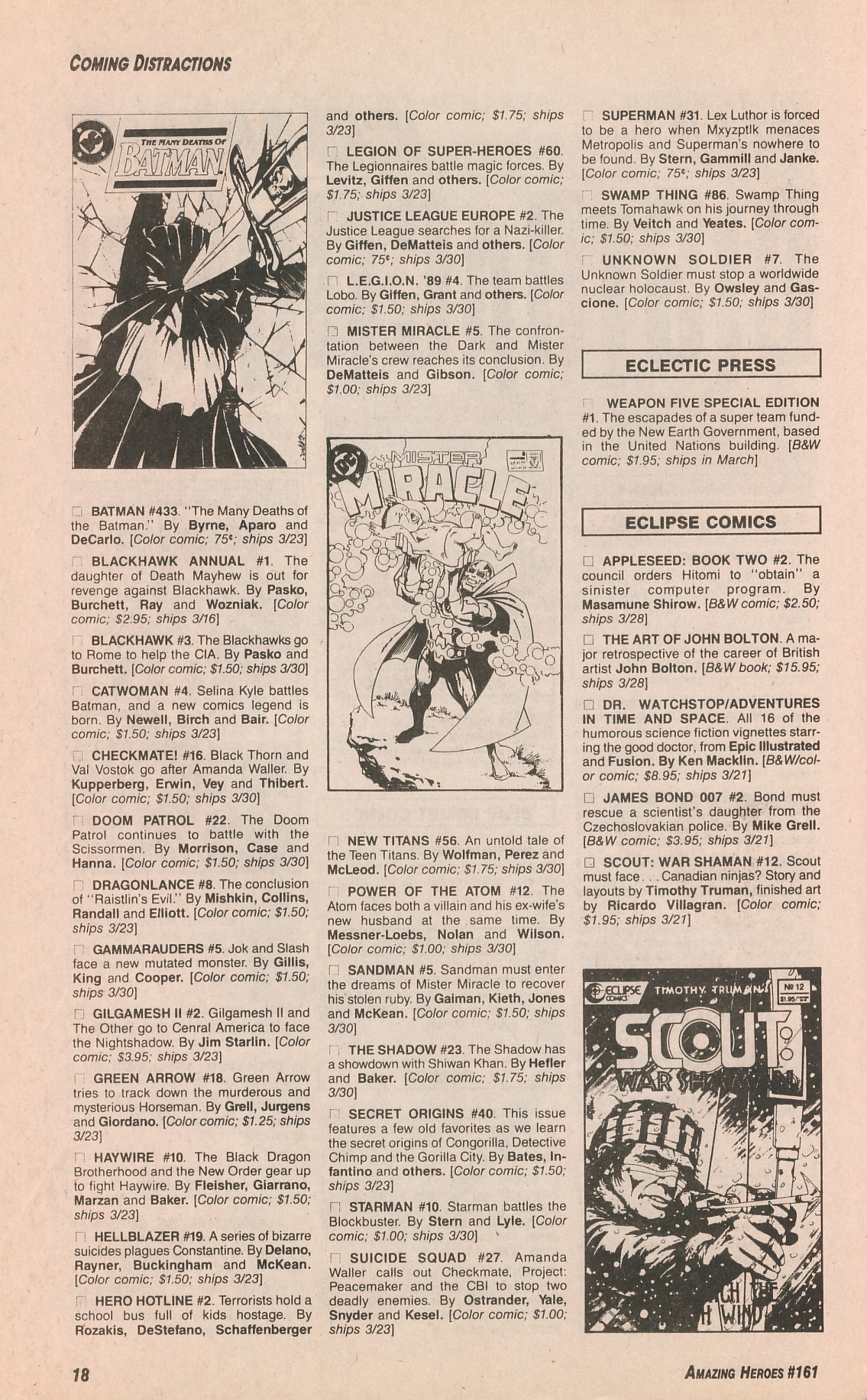 Read online Amazing Heroes comic -  Issue #161 - 18