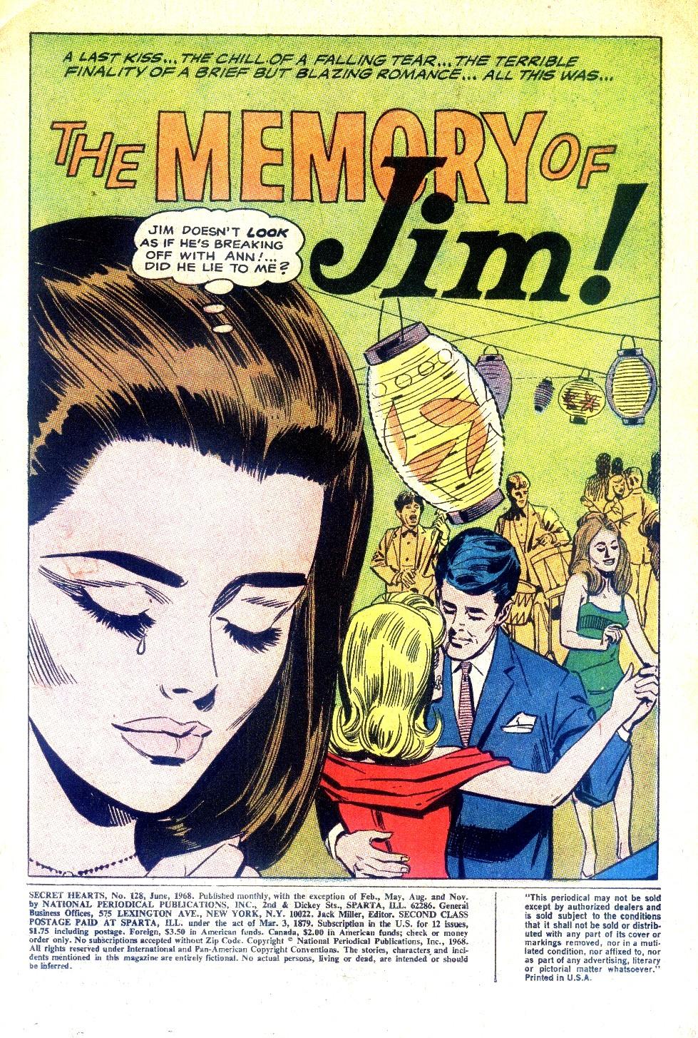 Read online Secret Hearts comic -  Issue #128 - 3