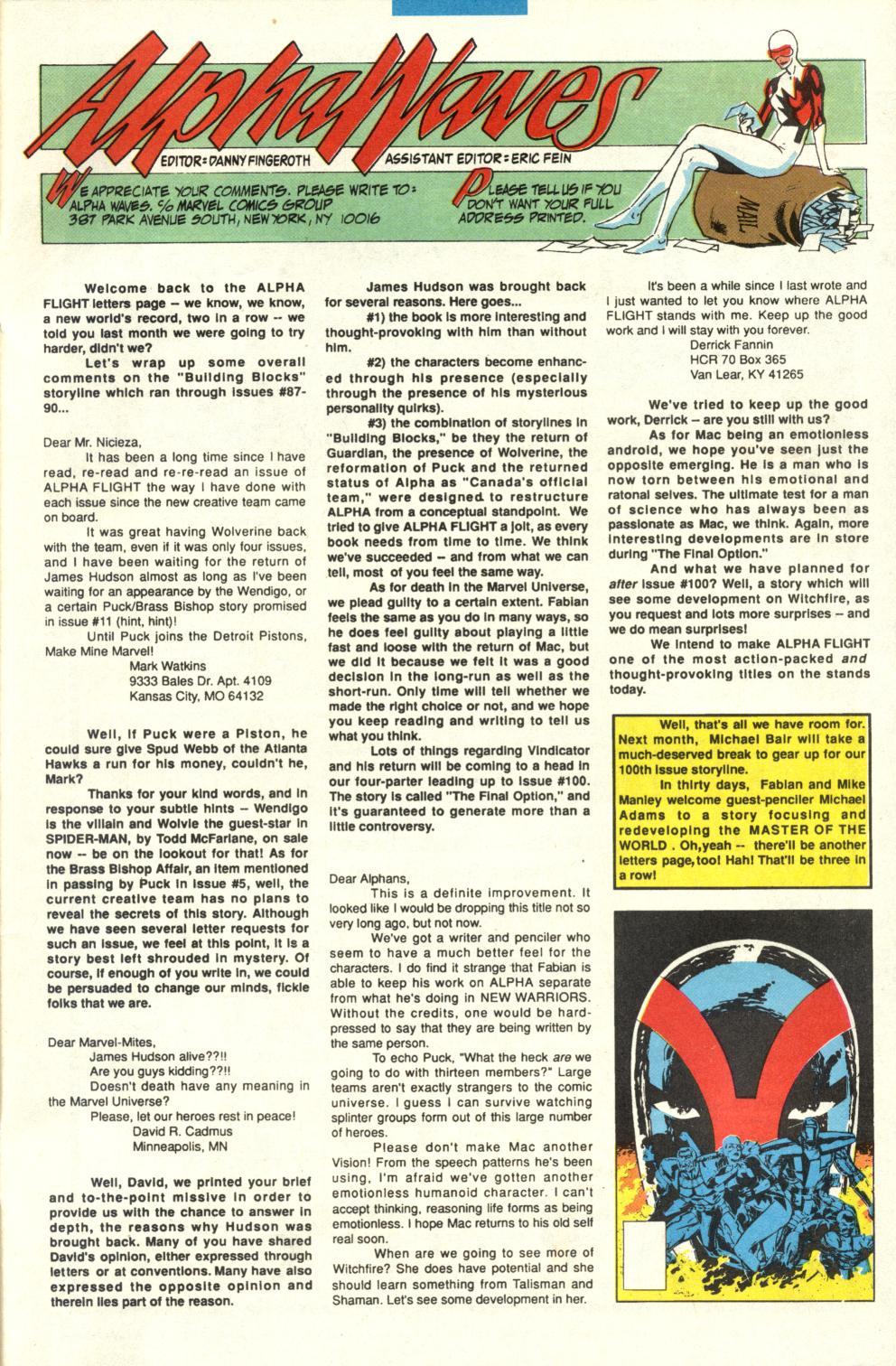 Read online Alpha Flight (1983) comic -  Issue #95 - 25