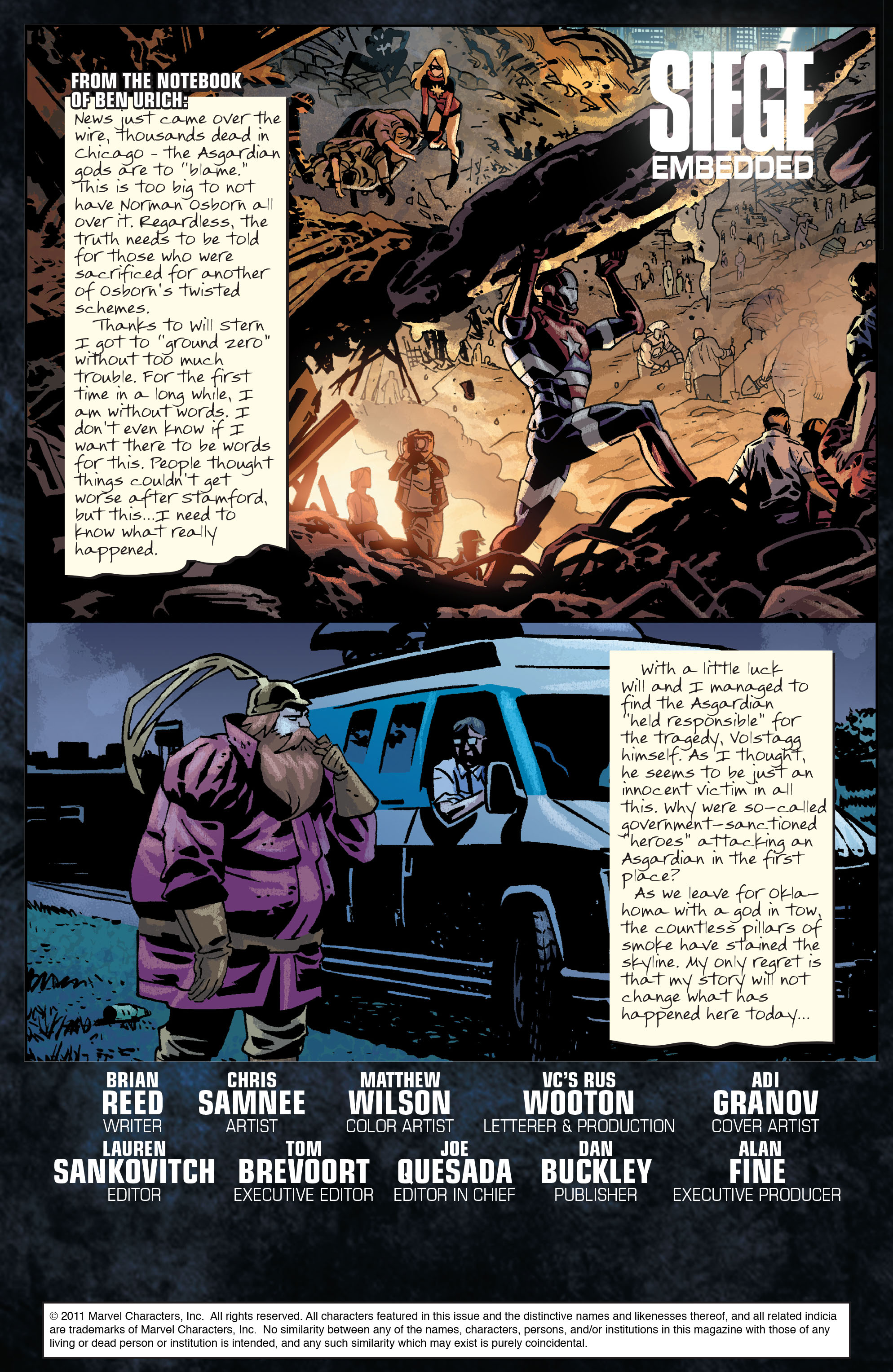 Read online Siege: Embedded comic -  Issue #2 - 2