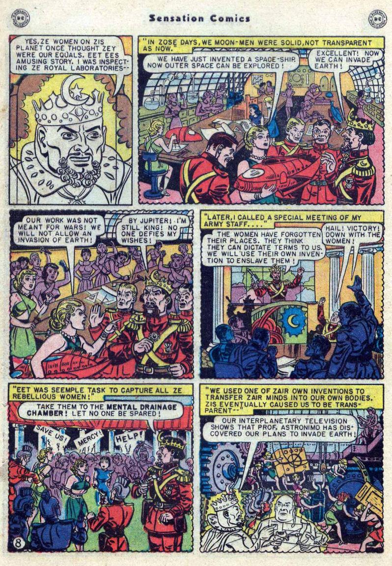 Read online Sensation (Mystery) Comics comic -  Issue #82 - 10