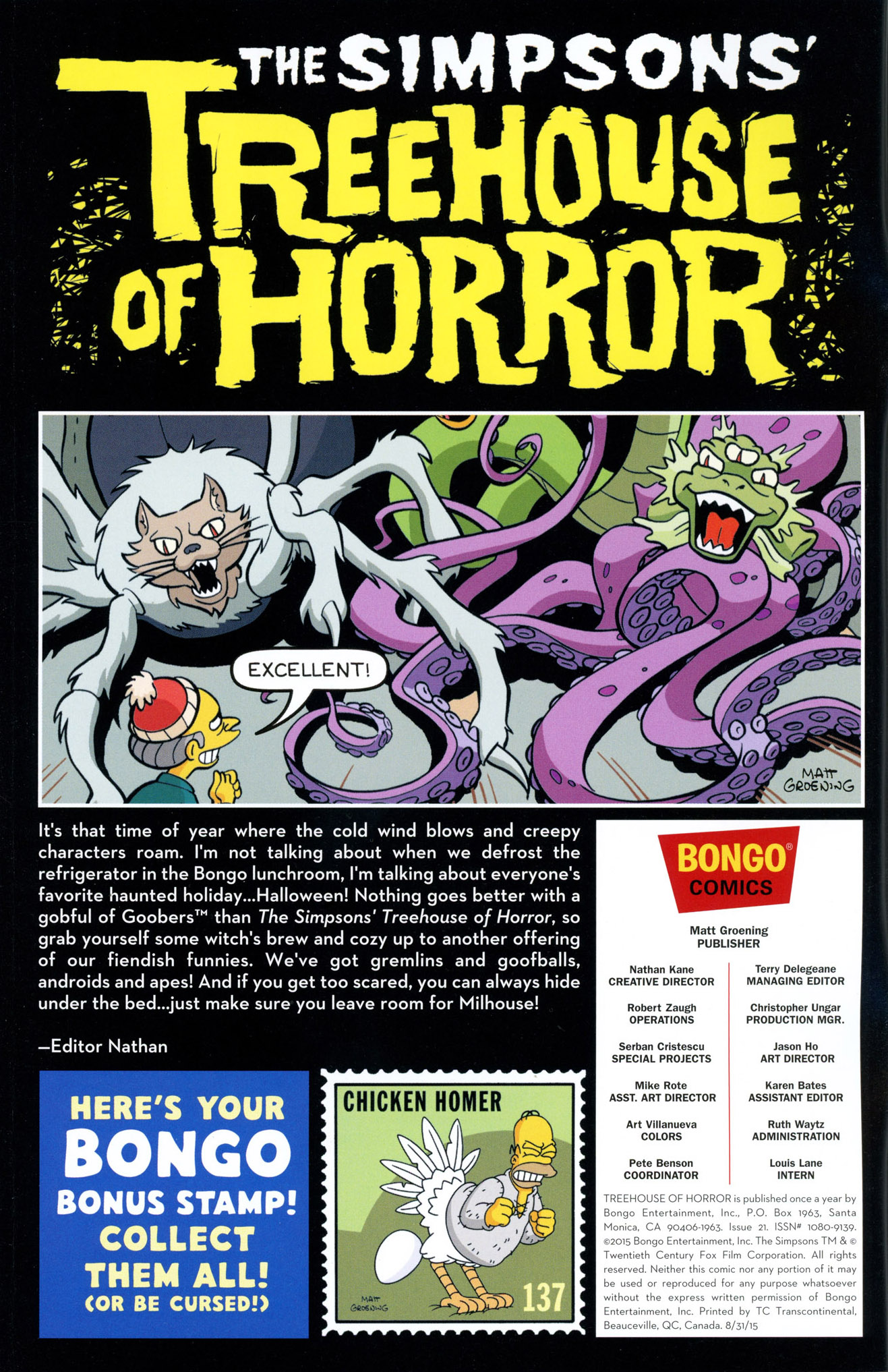 Read online Treehouse of Horror comic -  Issue #21 - 2