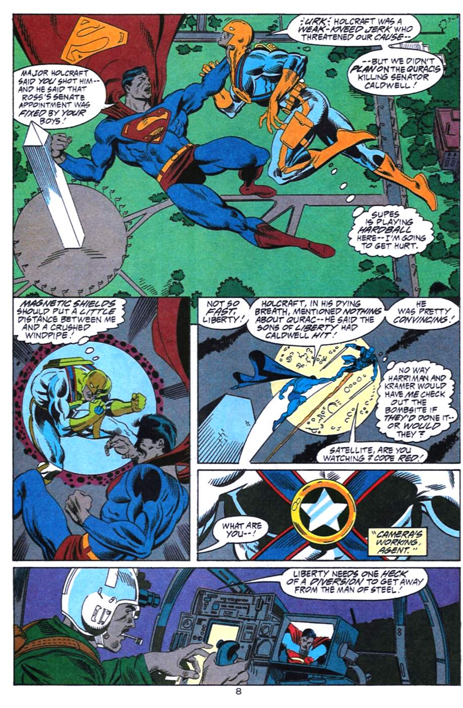 Read online Adventures of Superman (1987) comic -  Issue #492 - 9